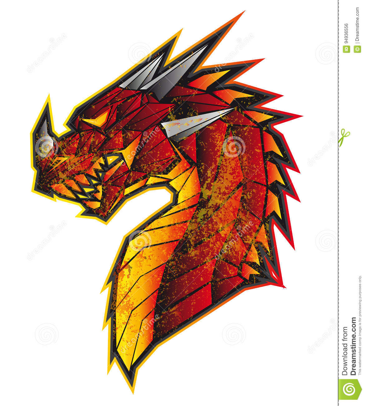 Dragon Stock Photo Image Of China Fire Icon Chinese 94936556