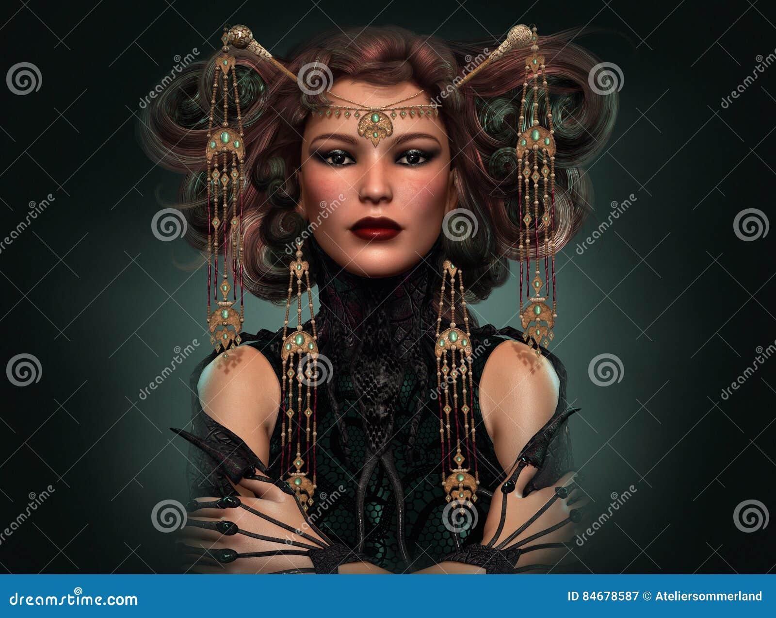 Dragon Queen, 3d CG