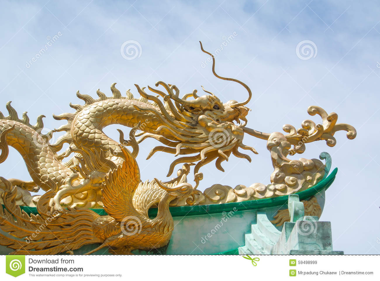 Dragon on roof