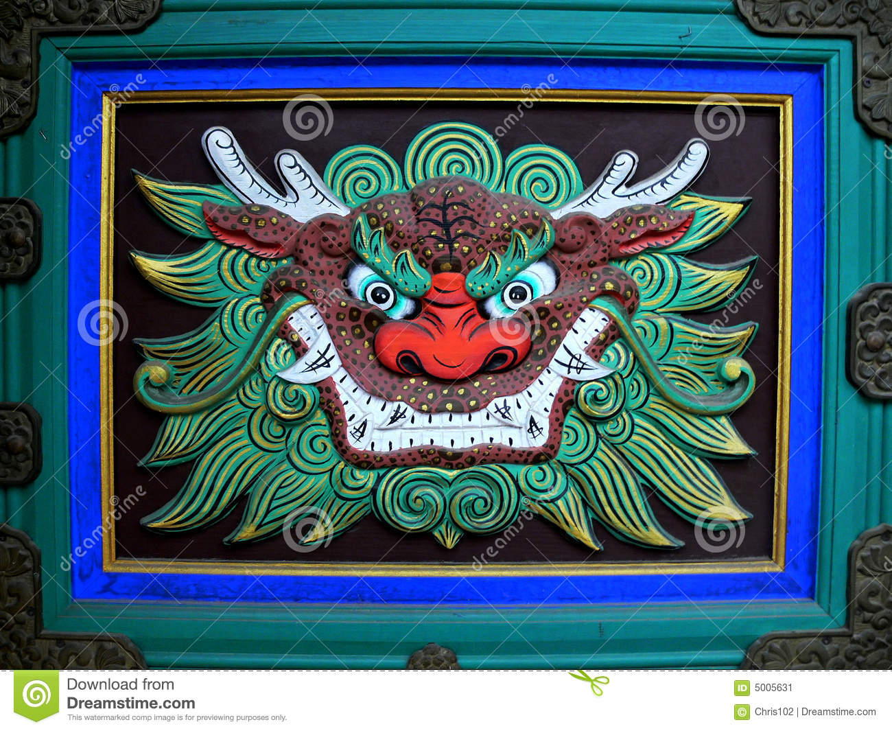Download Dragon's Head In Buddhist Temple Stock Image - Image of temple, dragon: 5005631