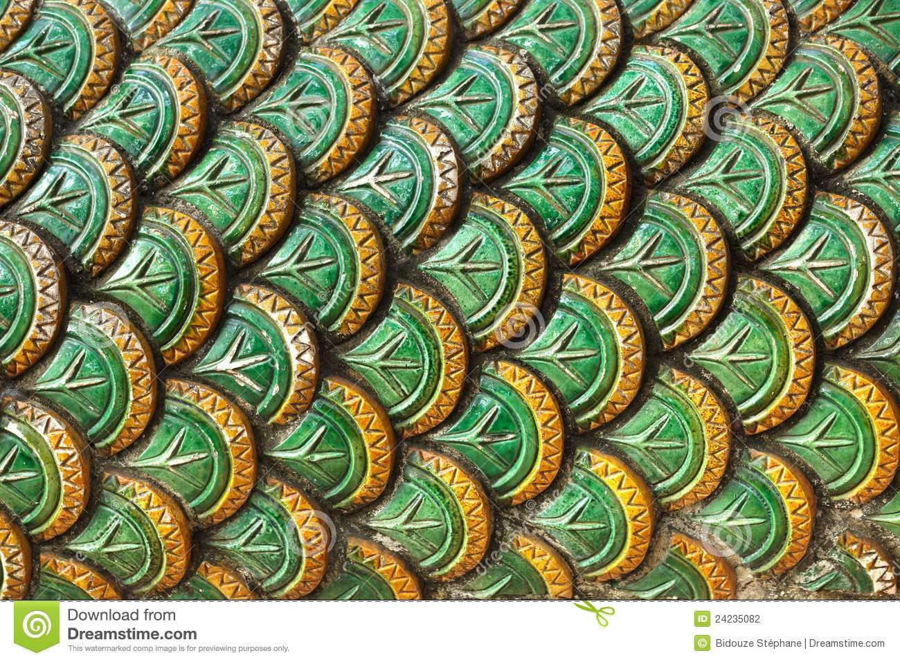Dragon Scale Pattern Stock Photography Image 24235082