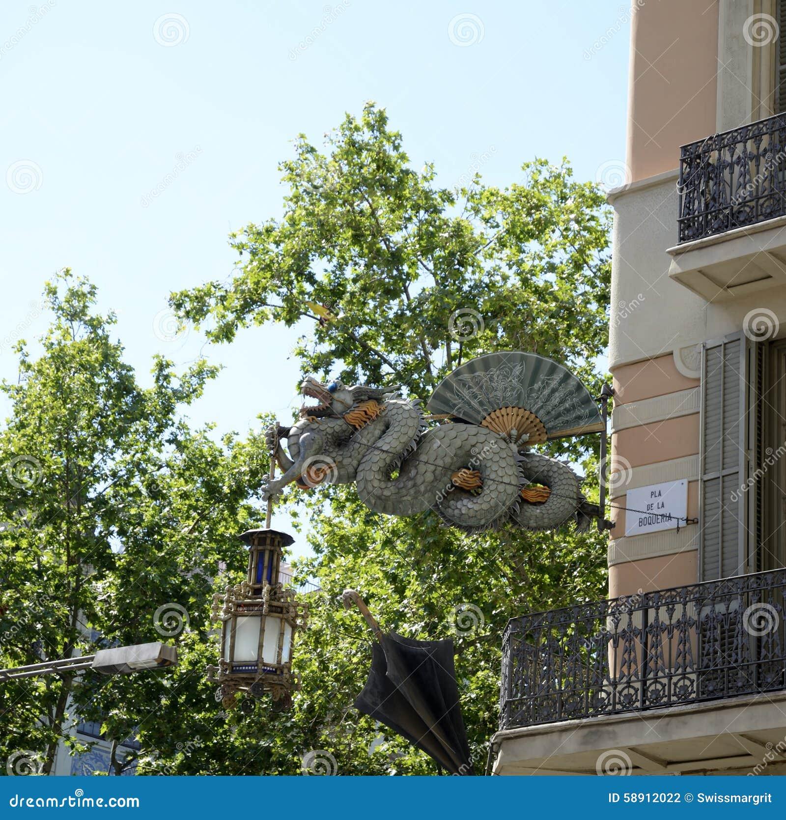 Dragon Sculpture em Barcelona-Catalonia spain
