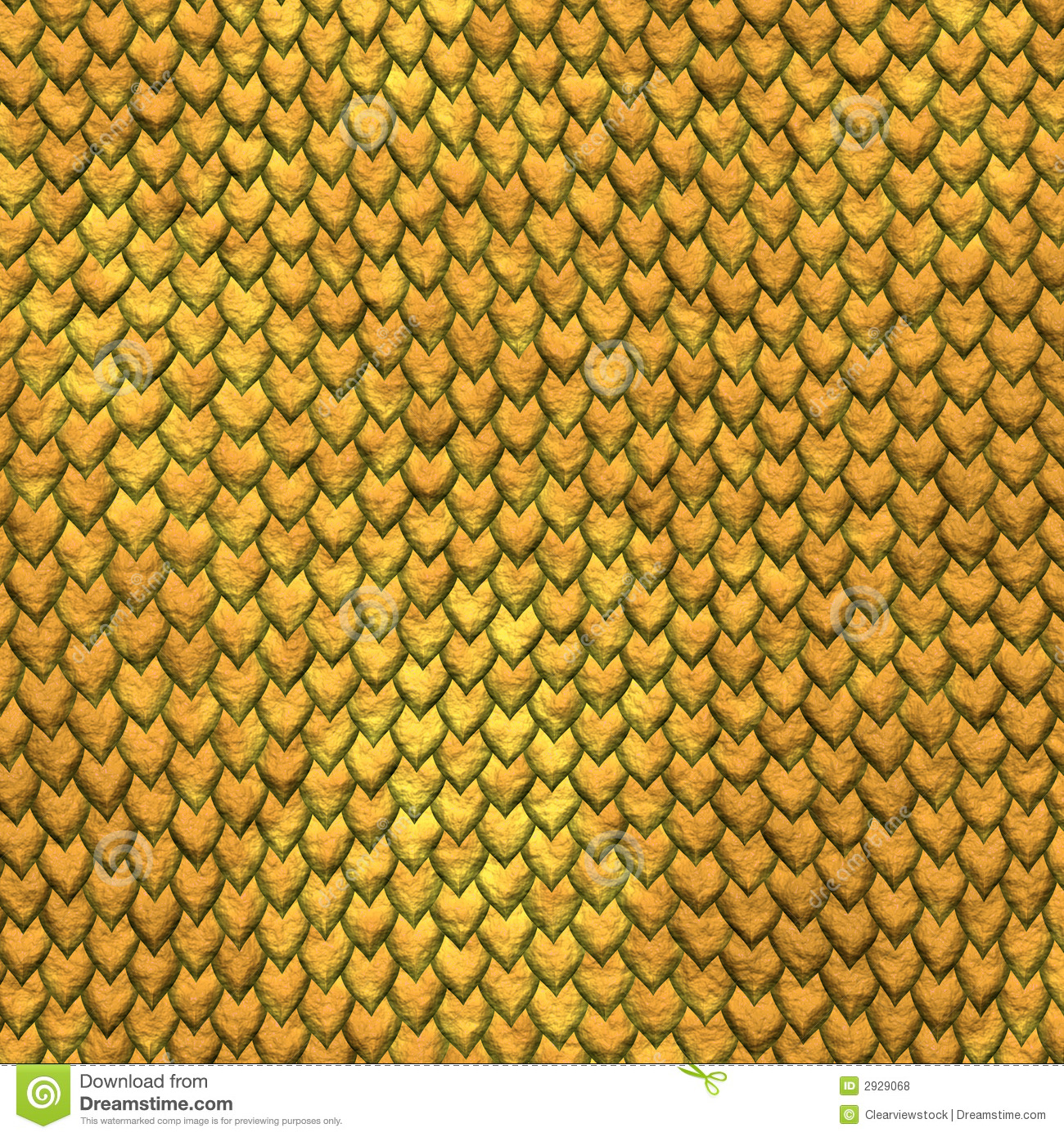 Dragon Skin Gold Scales Background Royalty Free Stock