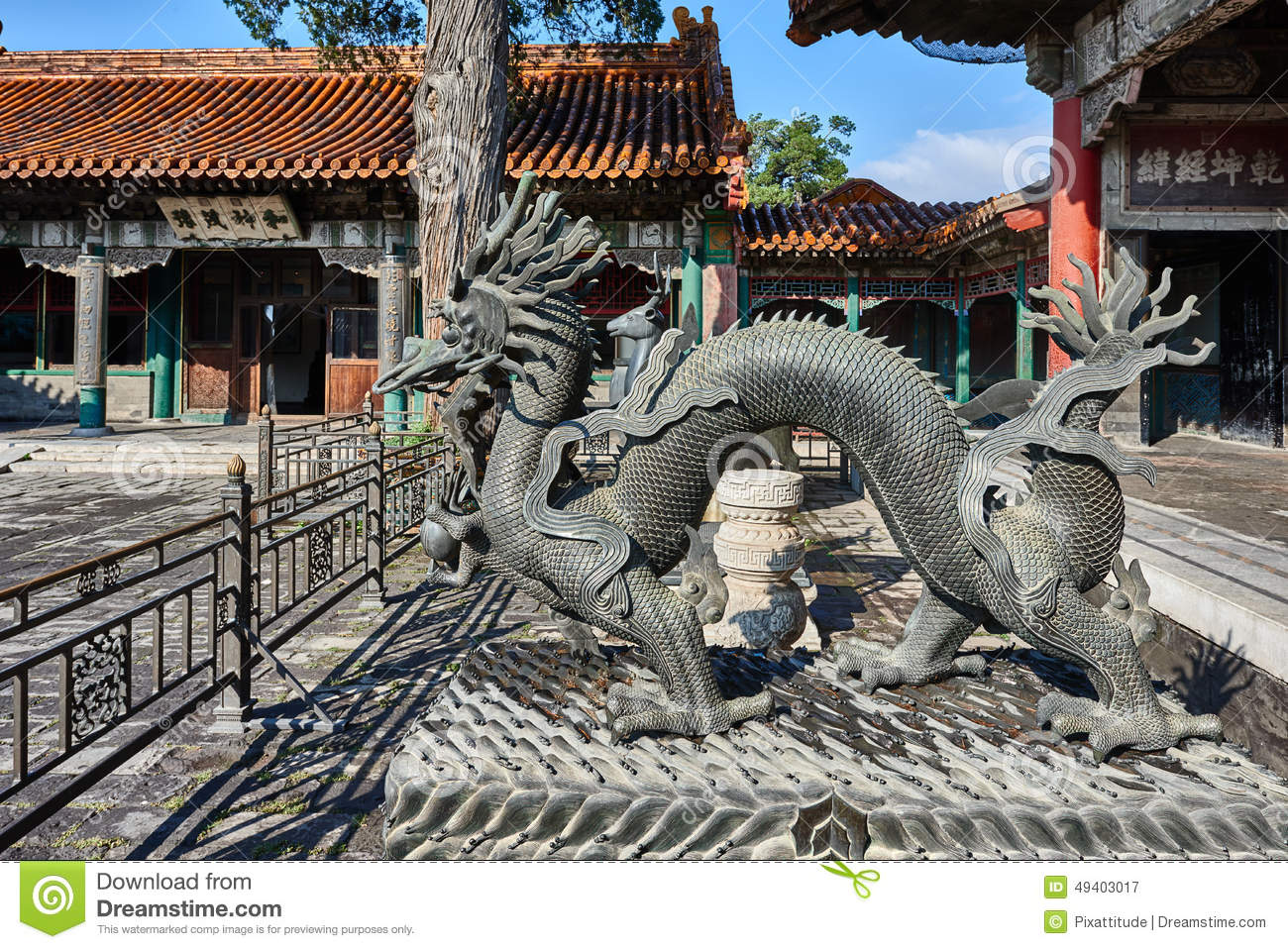 Download Dragon Statue Forbidden City Beijing China Stockbild - Bild von architektur, verboten: 49403017