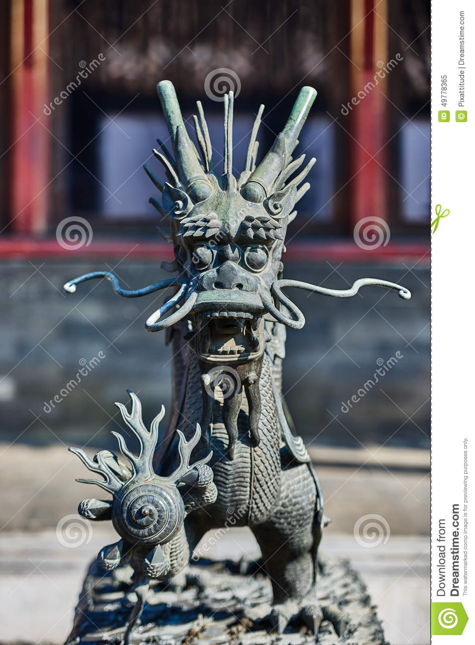 Dragon Statue Forbidden City Beijing Kina