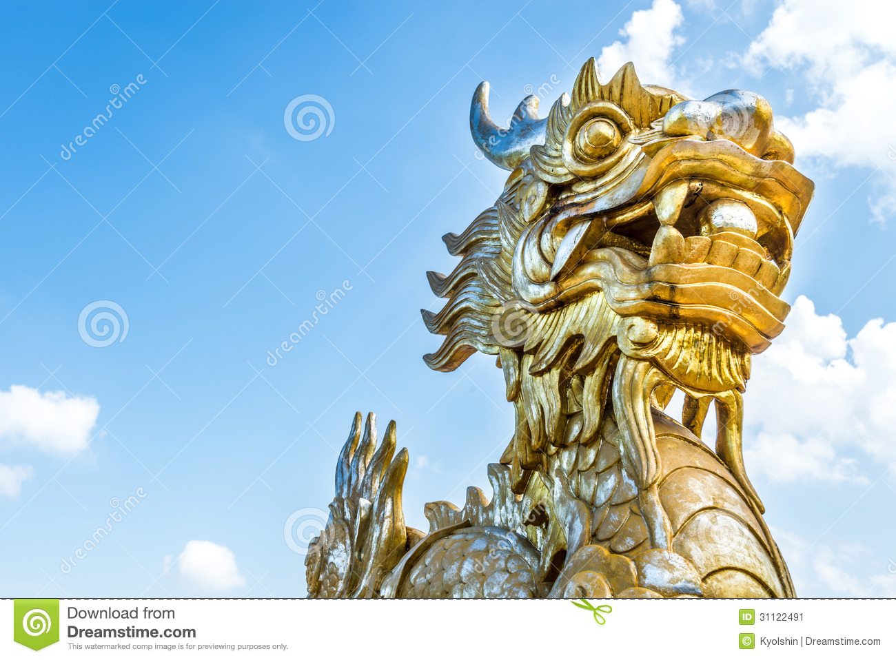 Vietnamese Dragon: Dragon Statue In Vietnam As Symbol And Myth. Stock Image