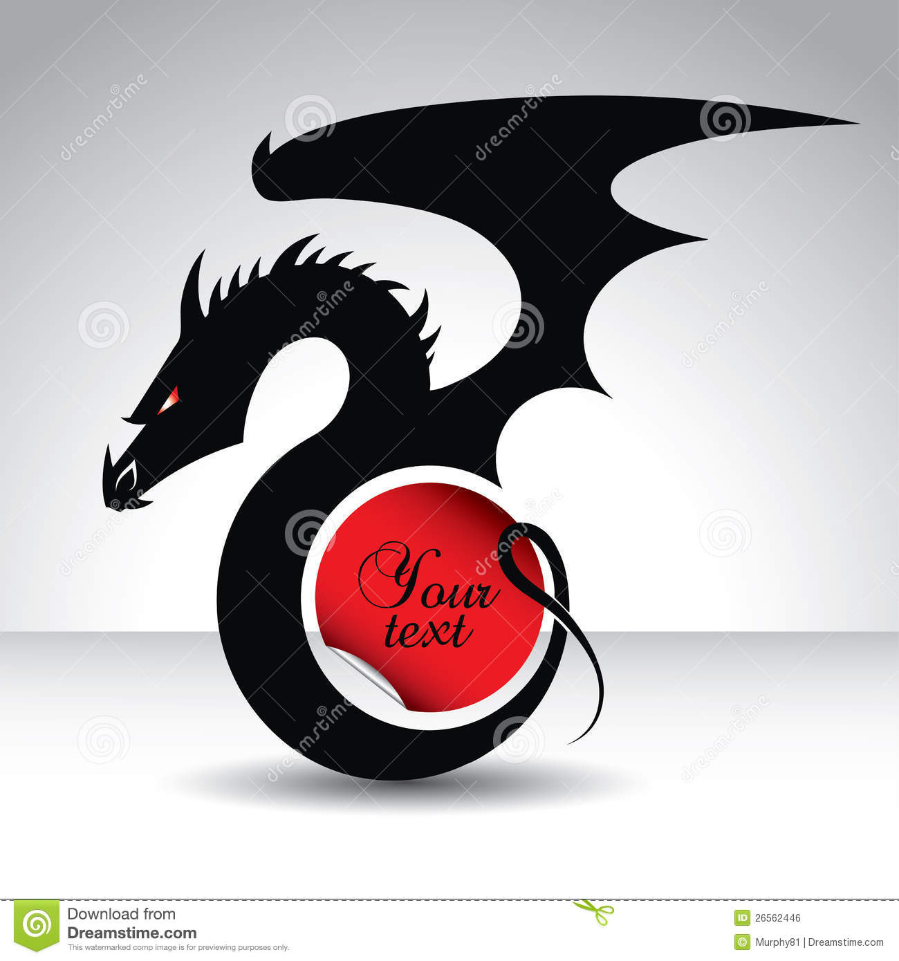 Dragon symbol for 2012 year with text place stock vector dragon symbol for 2012 year with text place biocorpaavc Image collections