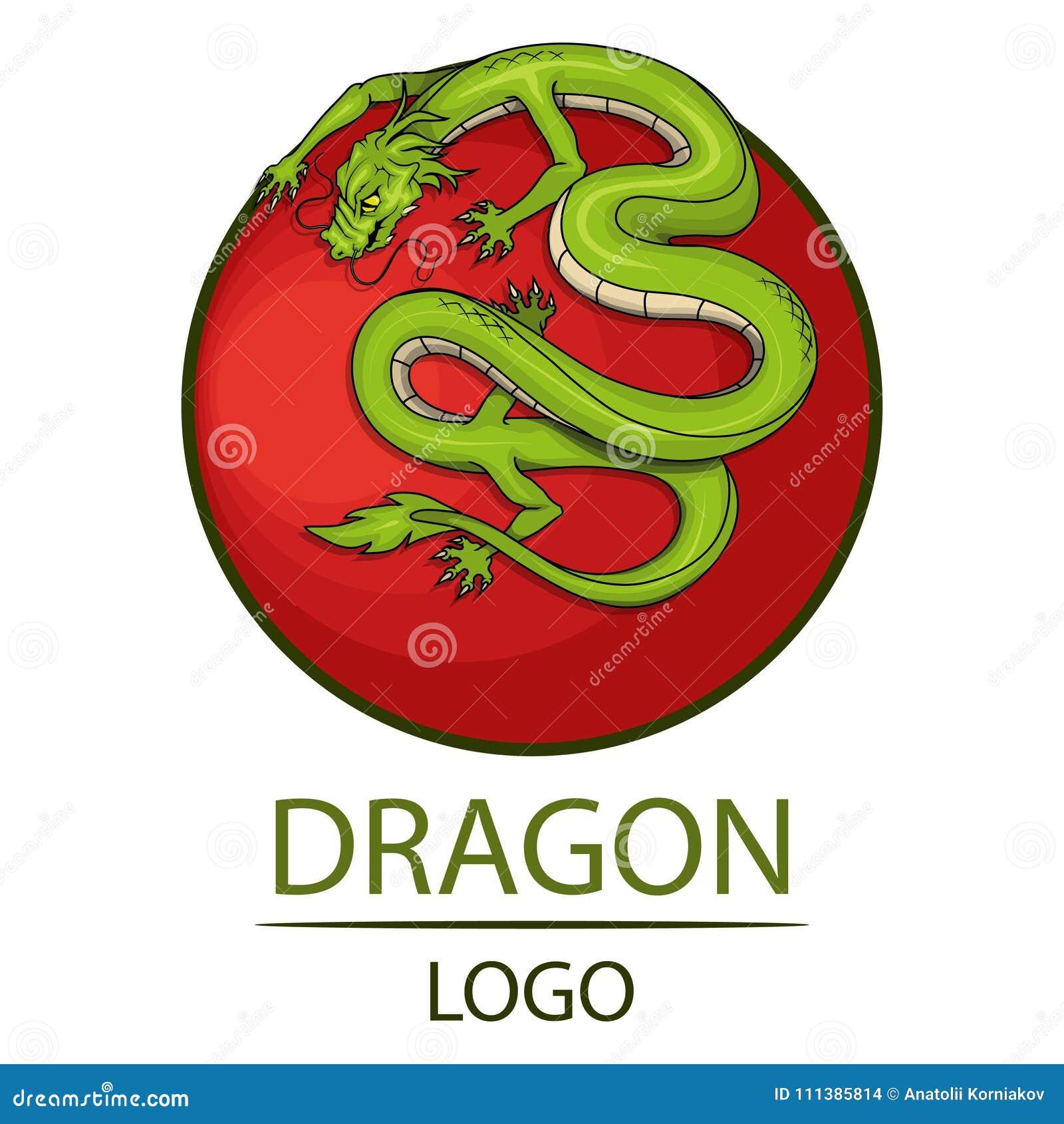 Dragon Symbol Of China Stock Vector Illustration Of Line 111385814