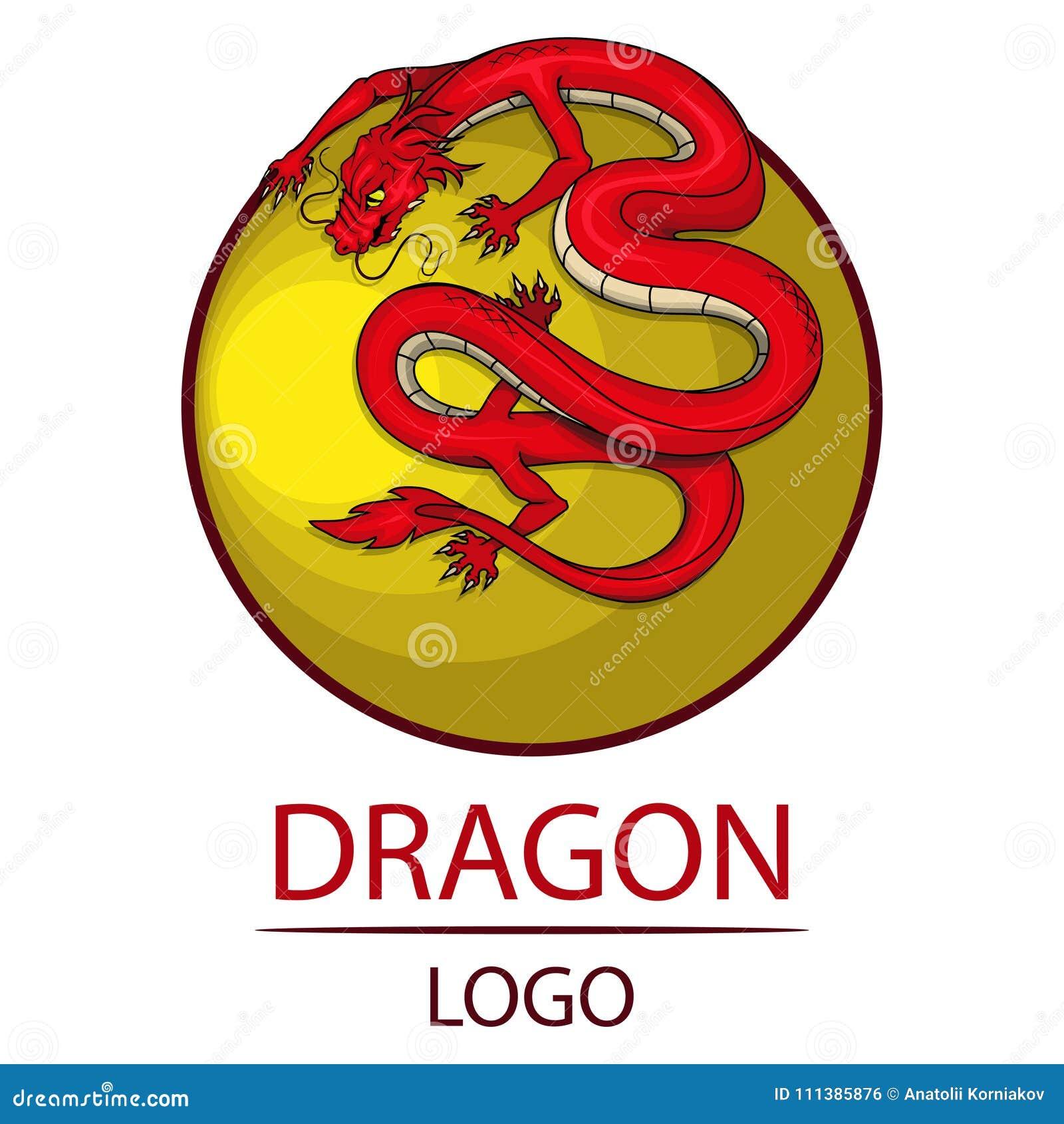 Dragon Symbol Of China Stock Vector Illustration Of Japanese