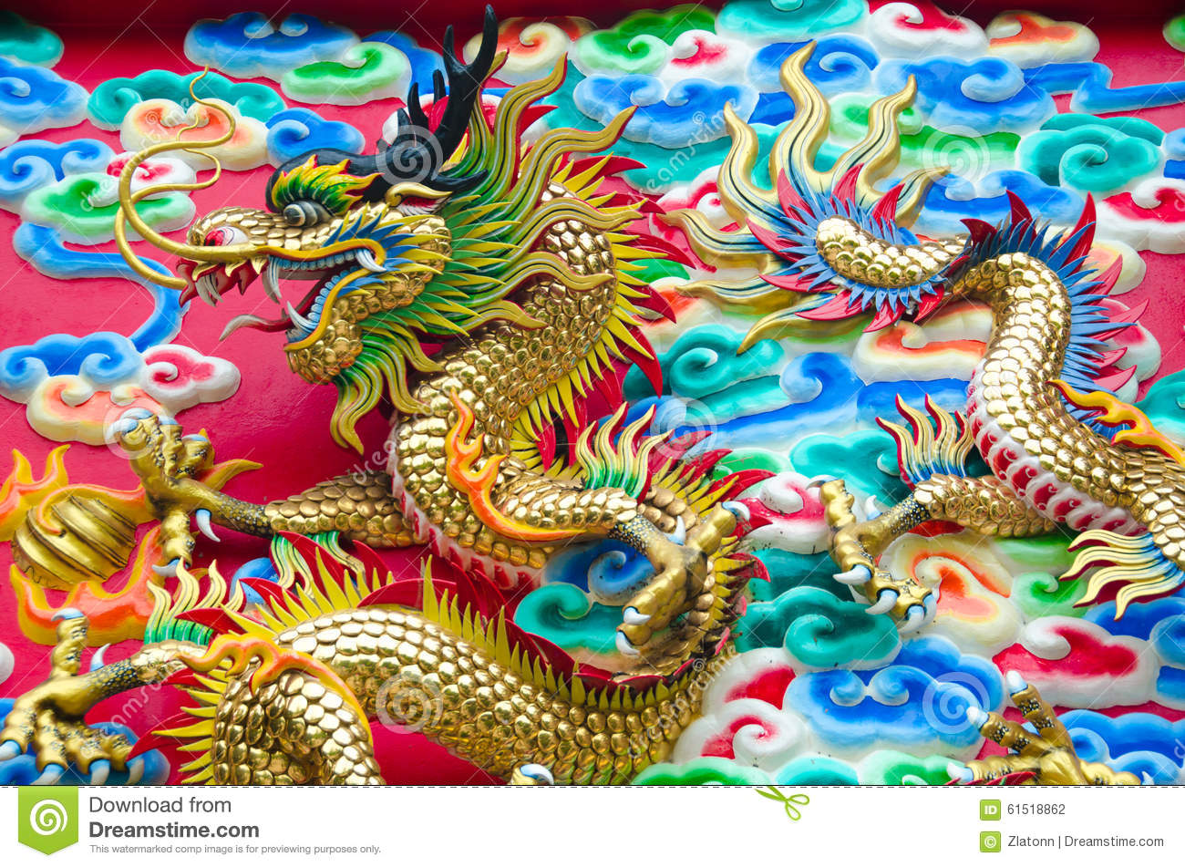 The Dragon Stock Photo Image Of Power Golden Believe 61518862