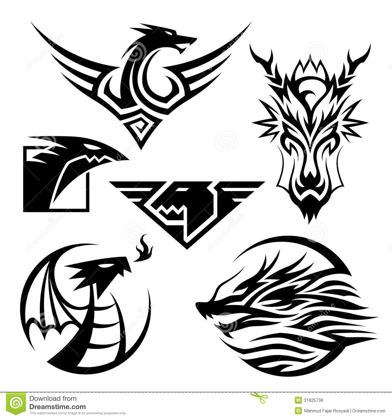 Dragon Symbols Stock Vector Illustration Of Awesome 31825738