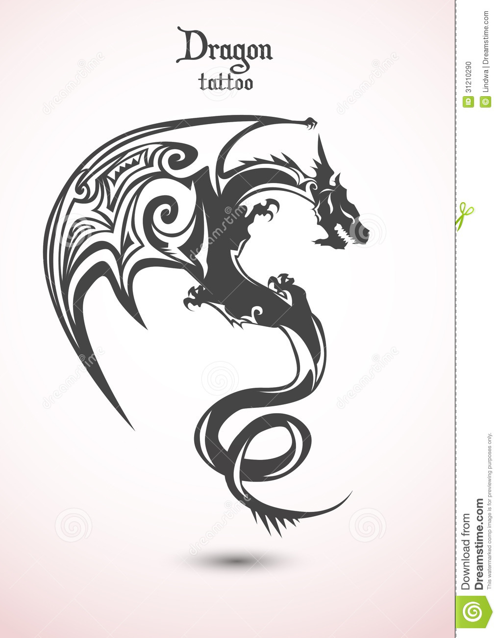 Illustration Tattoos: Dragon Tattoo Stock Photo