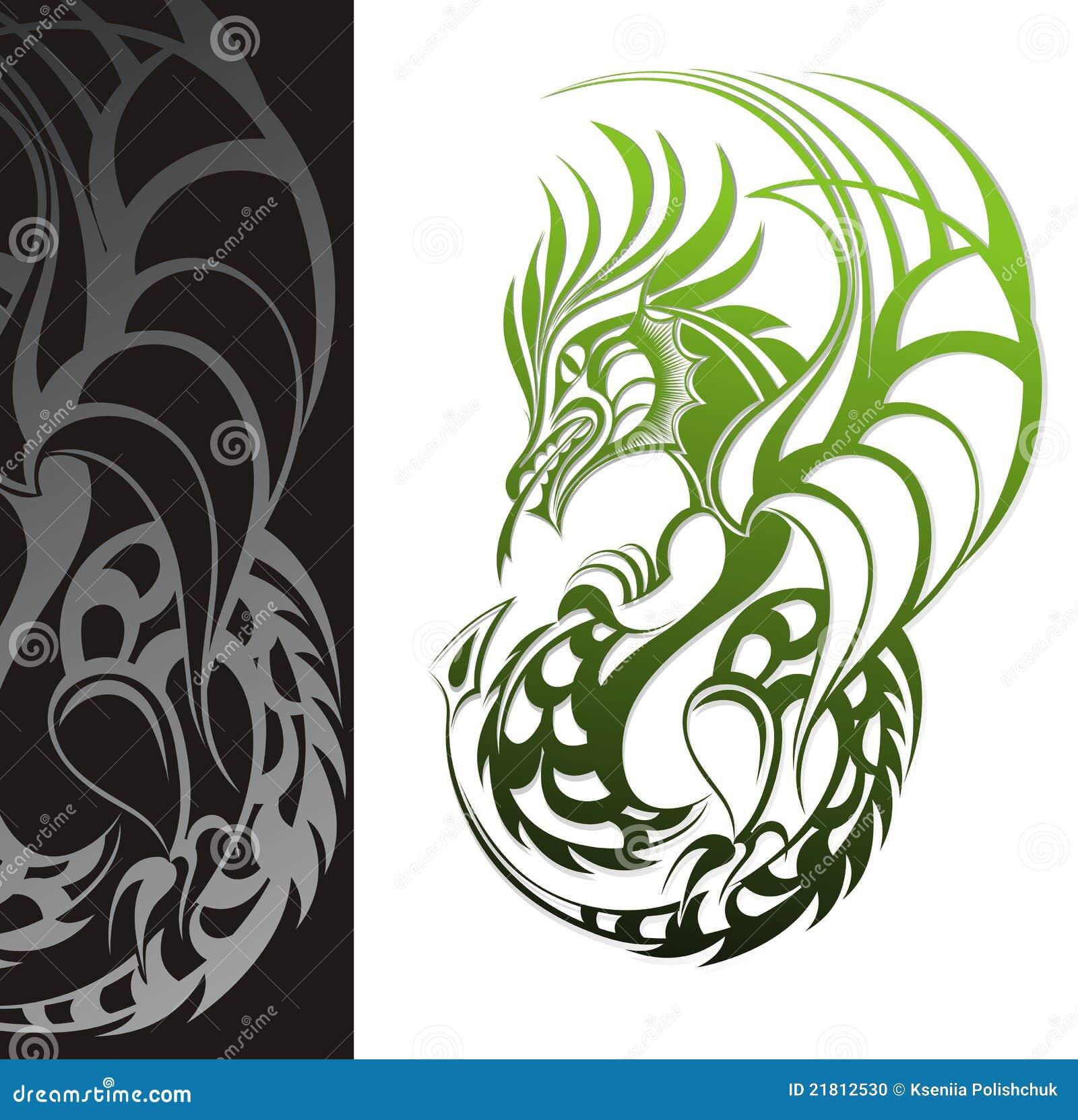 Dragon. Tattoo Design Stock Photo - Image: 21812530