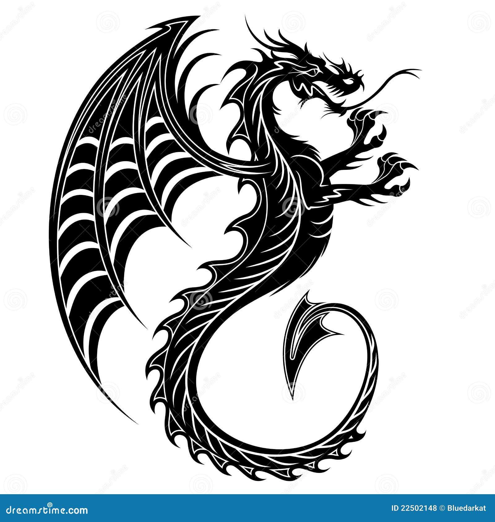 Dragon Tattoo Symbol 2012 Stock Vector Illustration Of Design