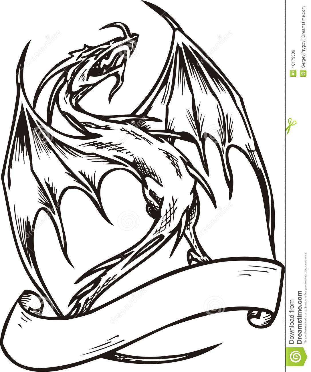 dragon template stock vector illustration of claw monster 16173339