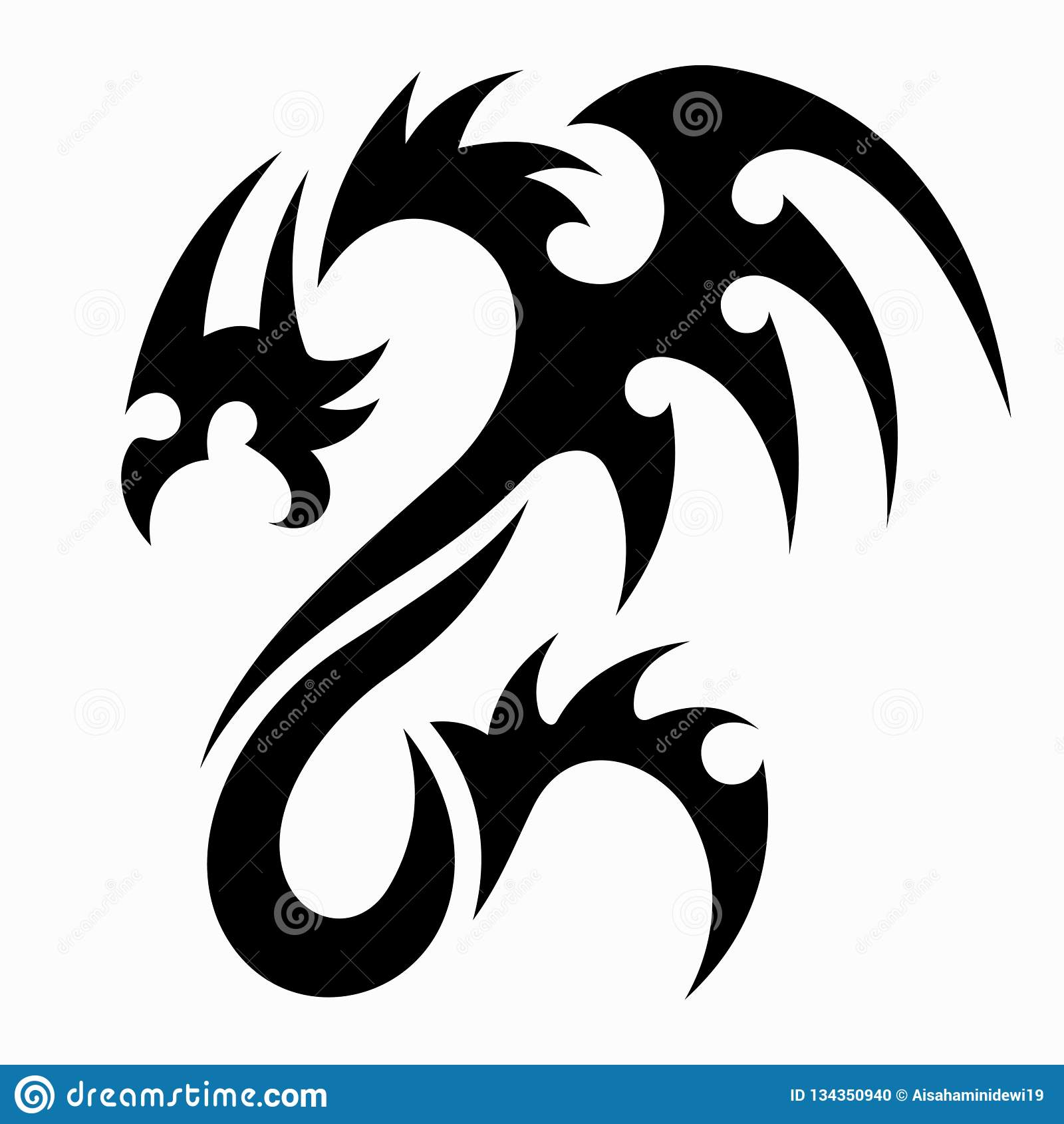 ae0b17a4c171d Dragon vector illustration for tattoo designs, logos, icons, symbols,  t-shirt designs and other design equipment