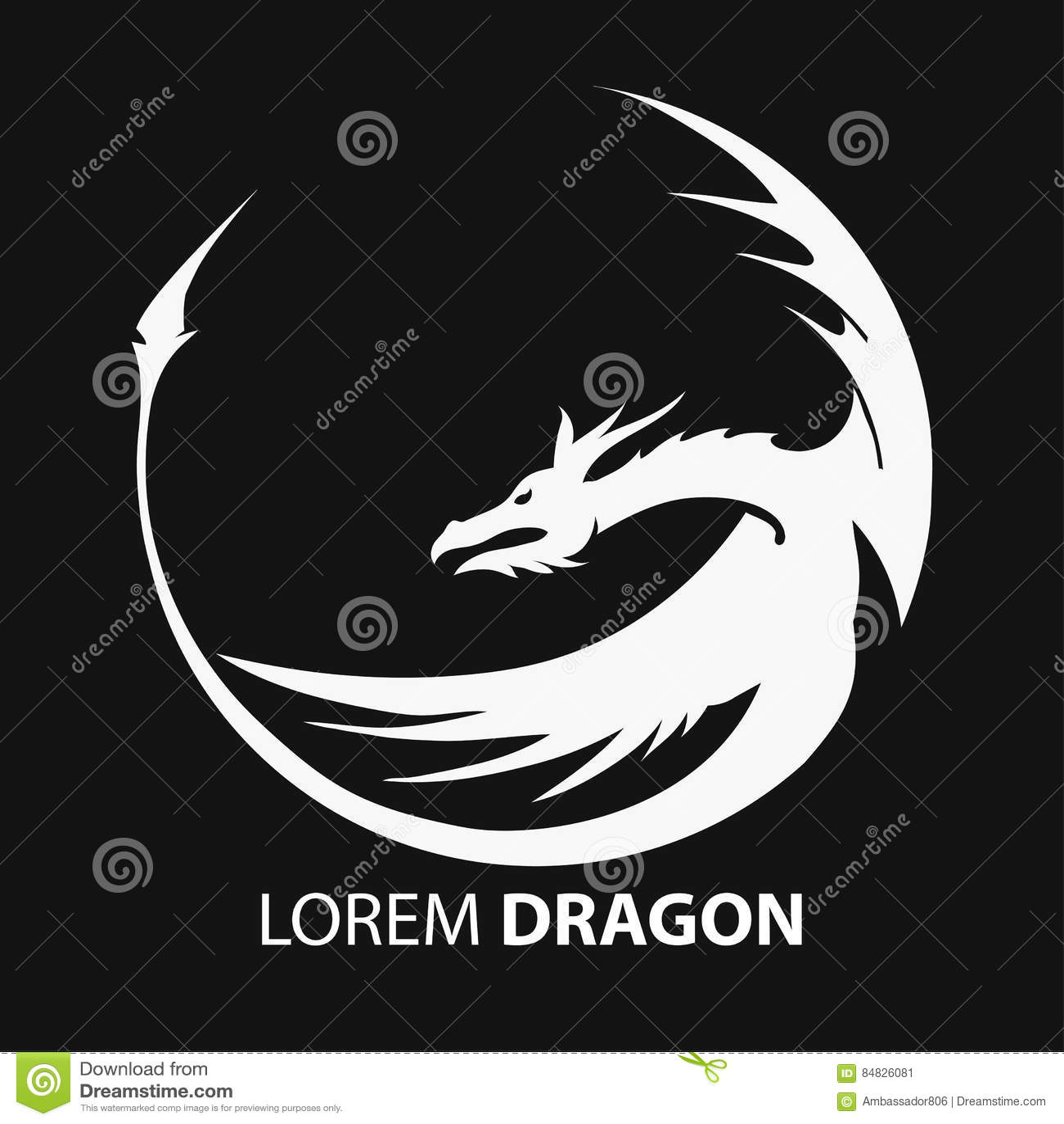 Dragon Vector Silhouette Stock Vector - Image: 84826081