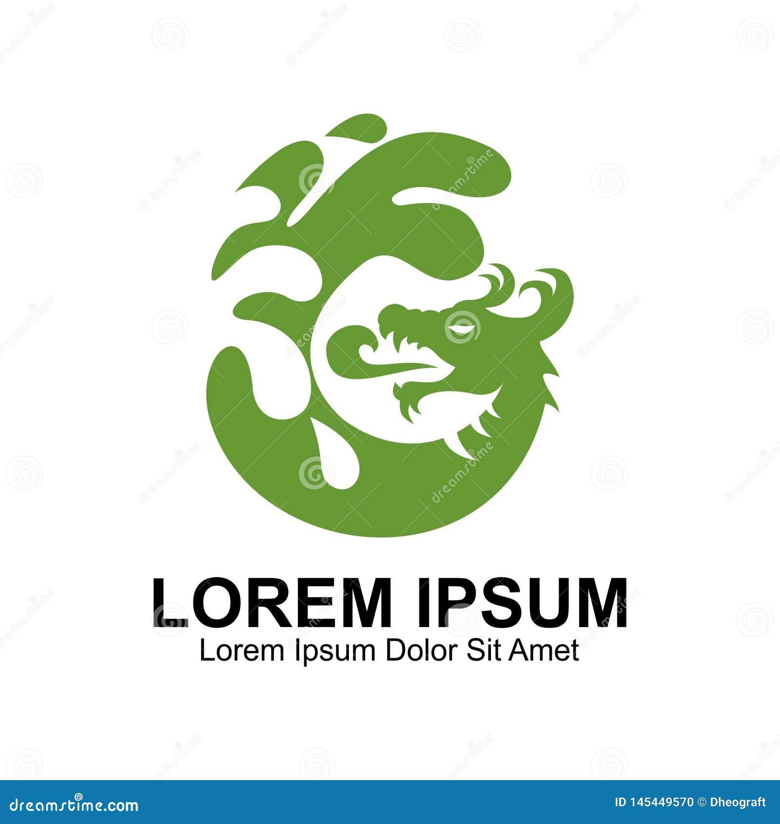 Dragon Water Logo vert