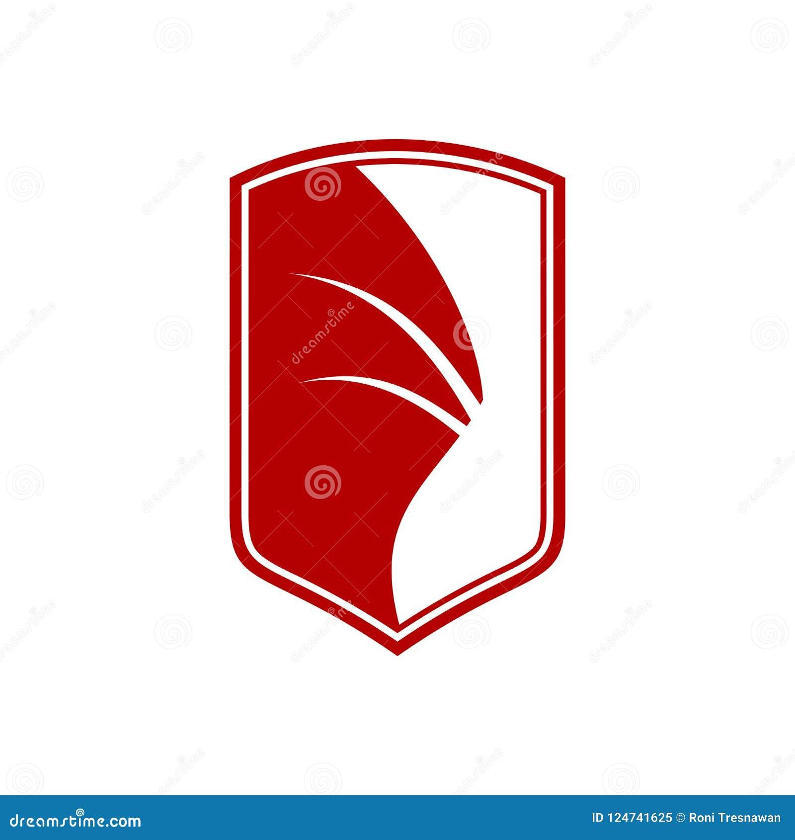 Dragon Wing Shield Sigil Symbol Graphic Design Stock Vector