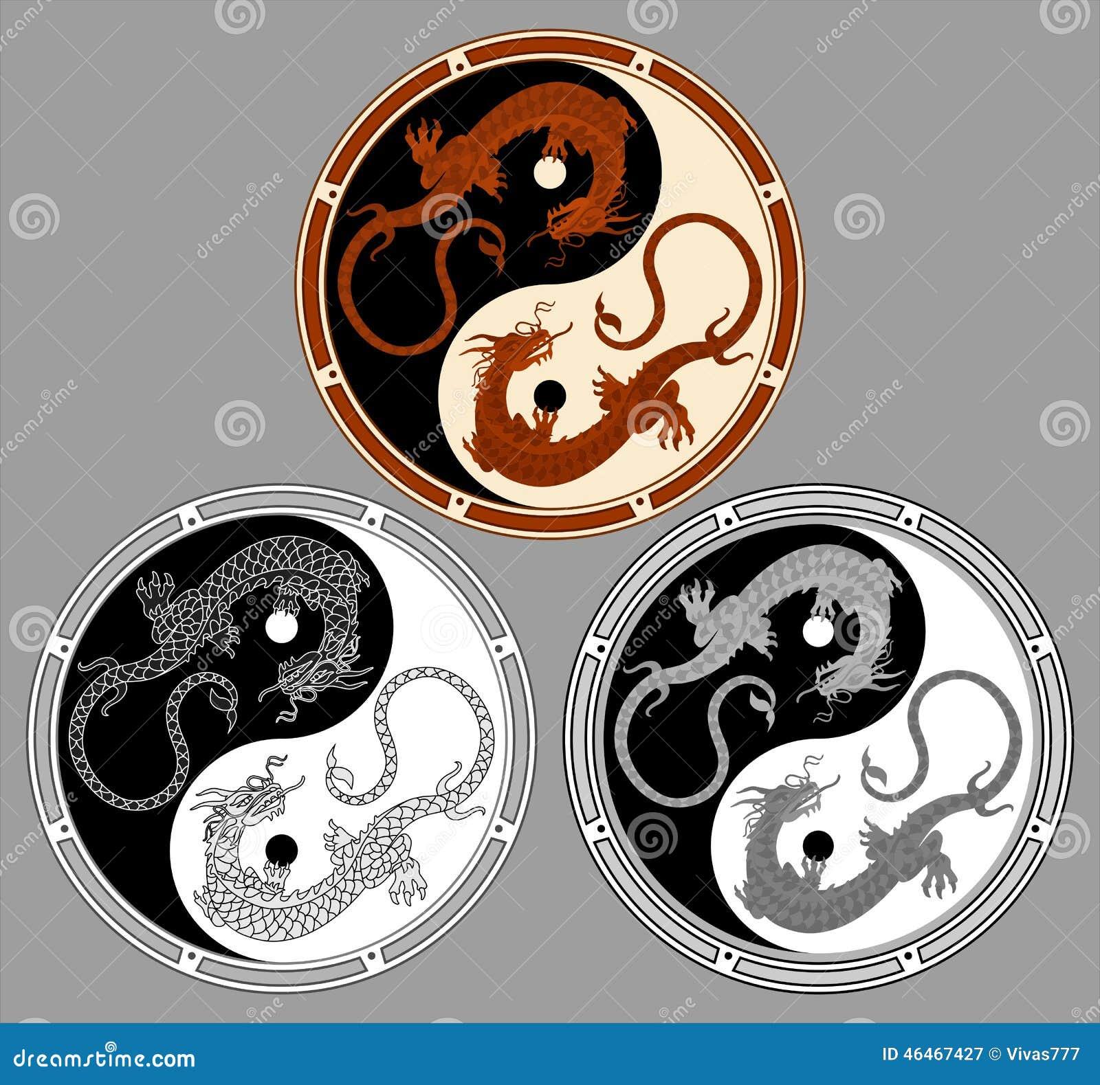Dragon the yin yang
