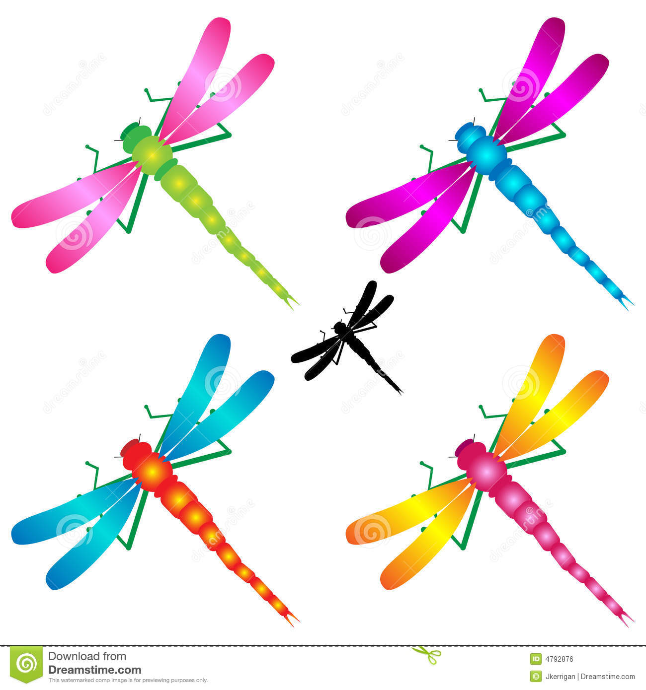 Dragonflies stock vector. Illustration of shape, stylized ...