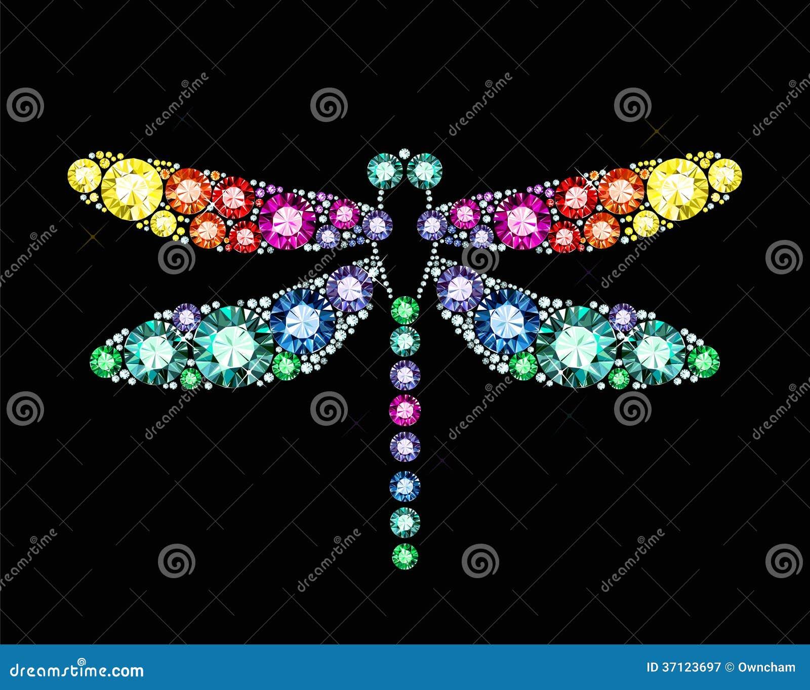 Dragonfly самоцвета