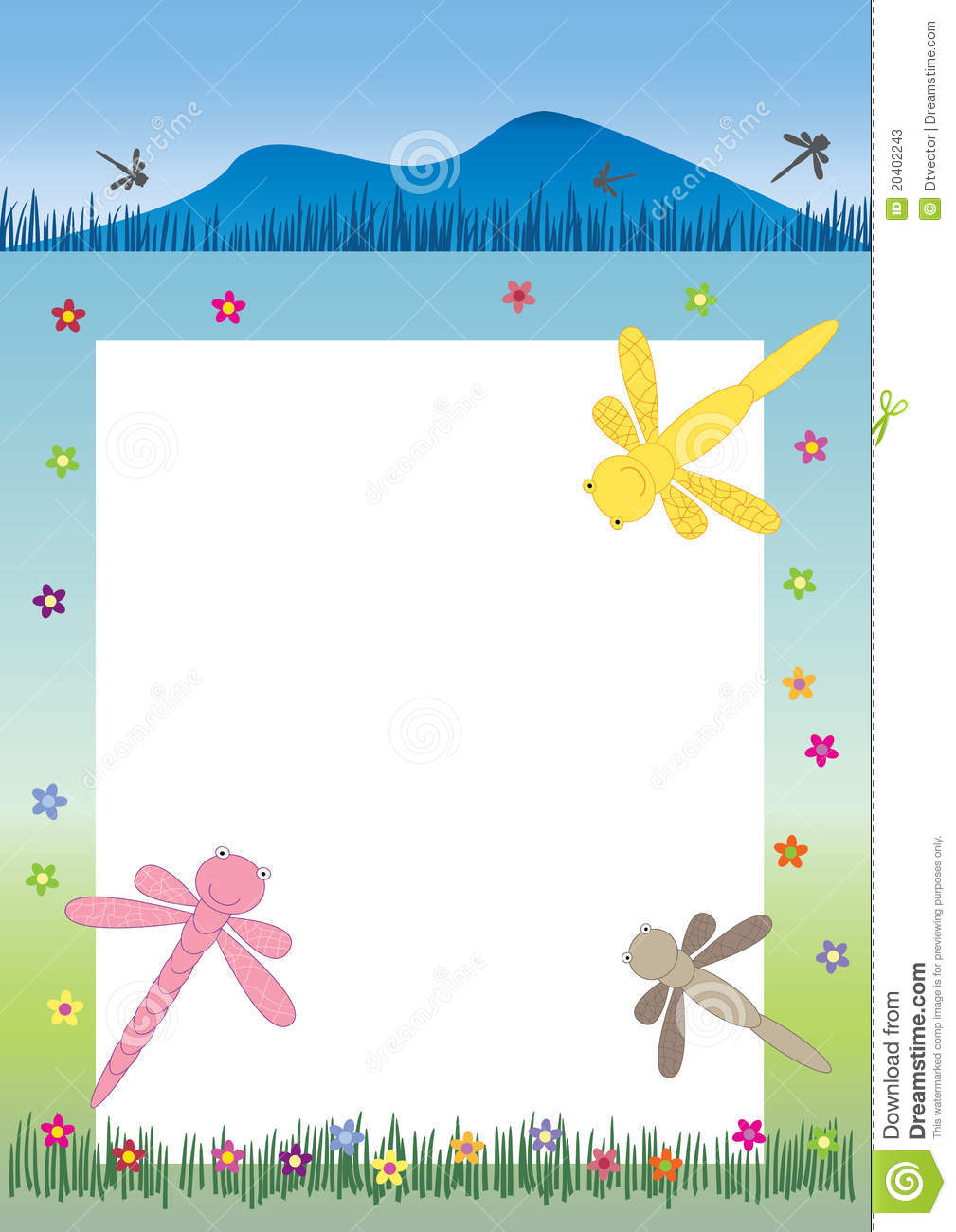 Dragonfly Banner And Frame Eps Stock Photos Image 20402243