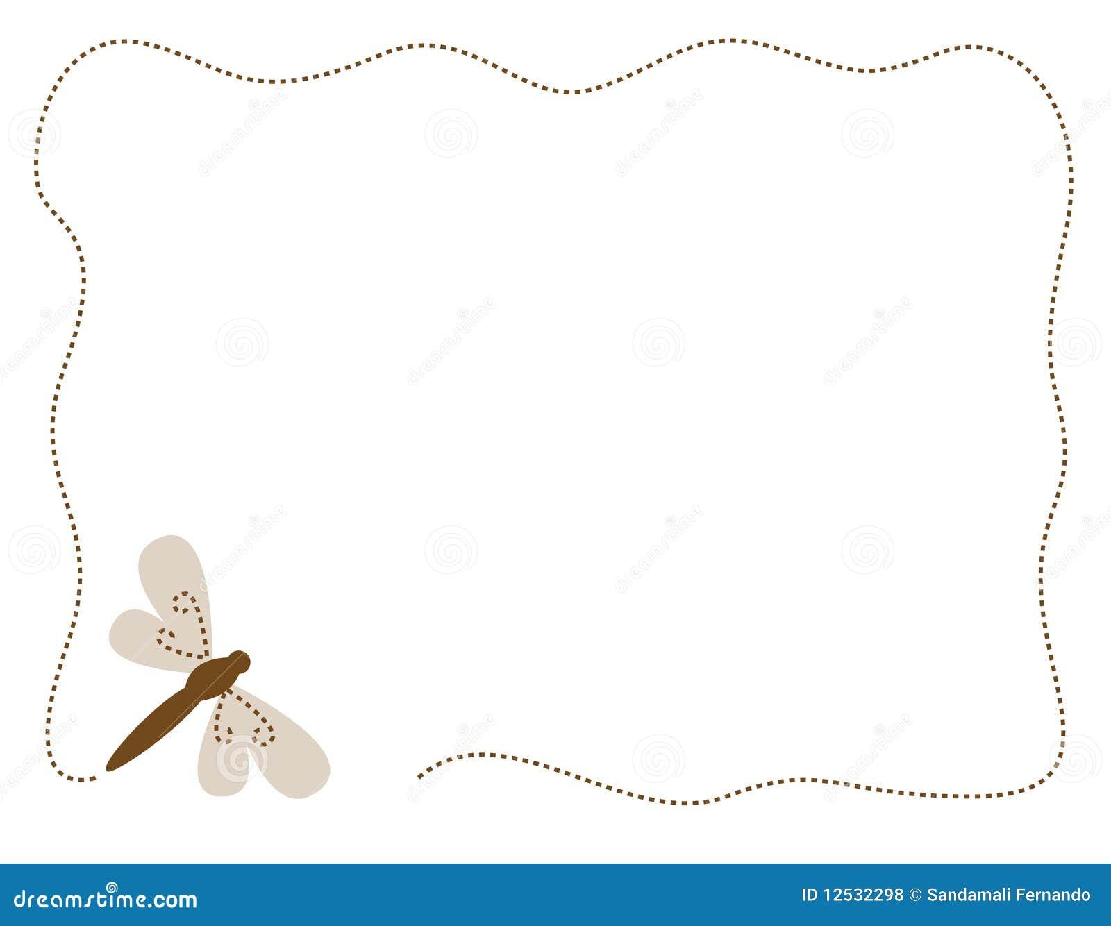 dragonfly border frame royalty free stock photos image