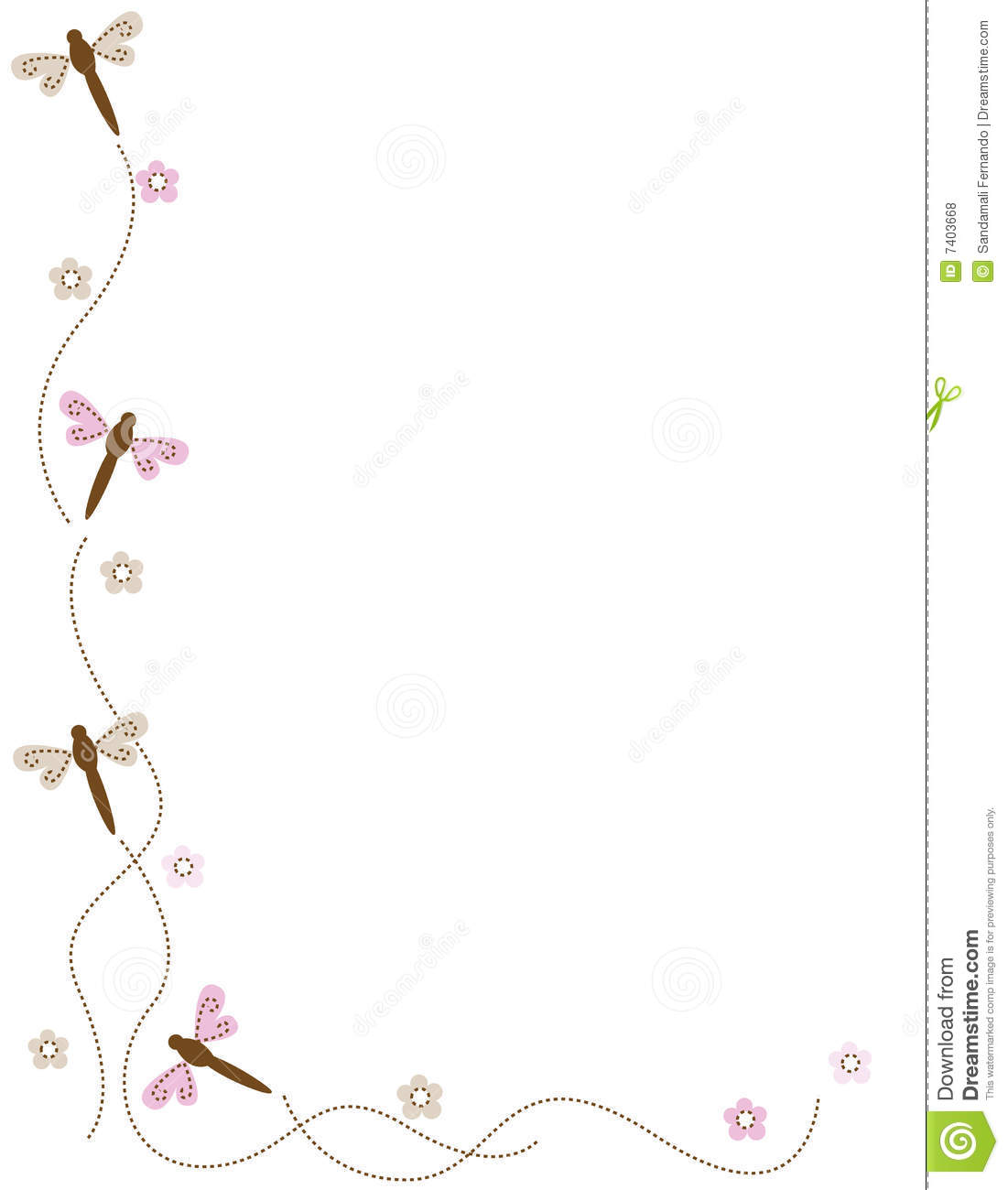 dragonfly corner royalty free stock photos image 7403668