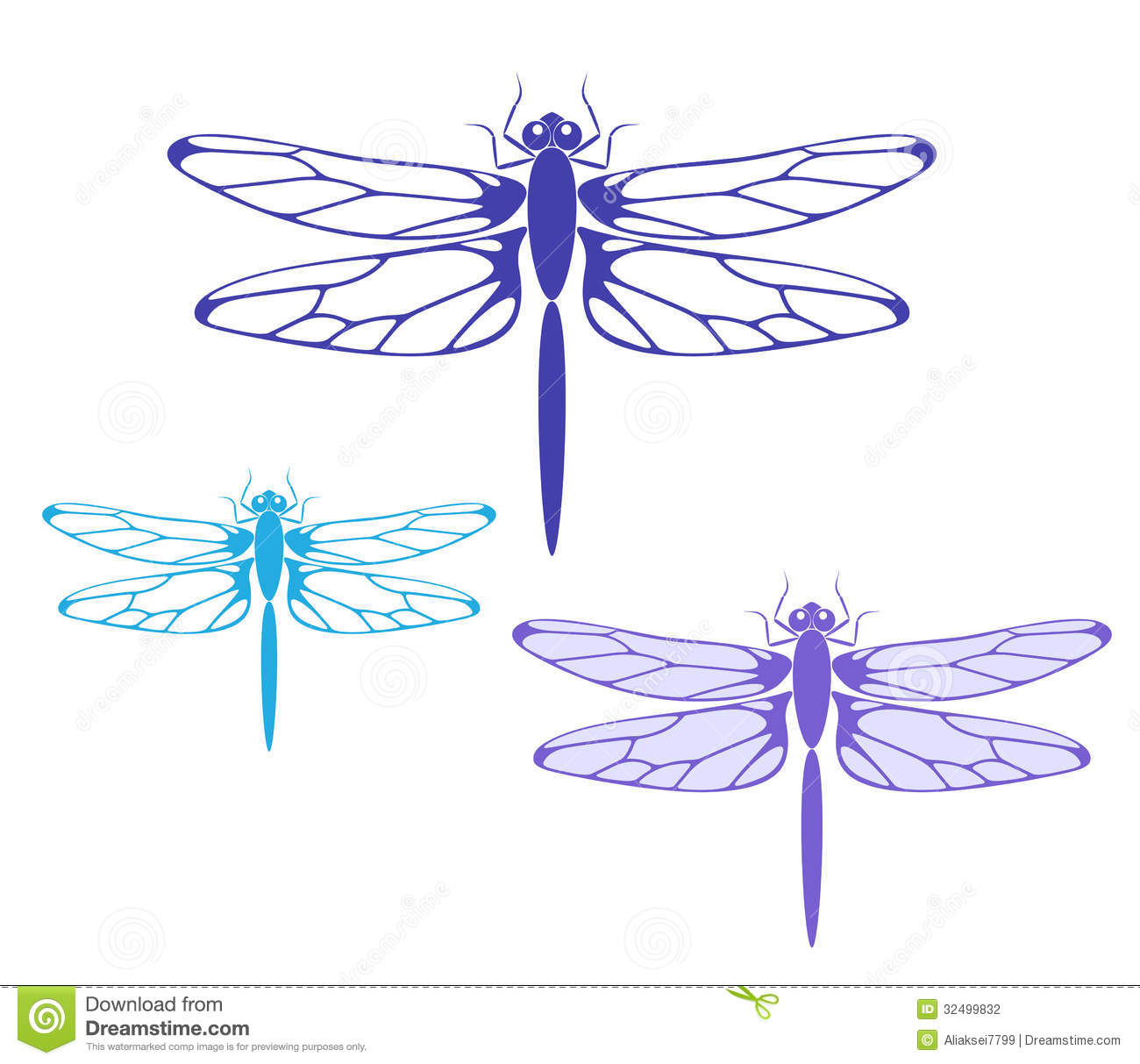 Dragonfly. Isolated objects on white background. Vector illustration ... Water In Hand