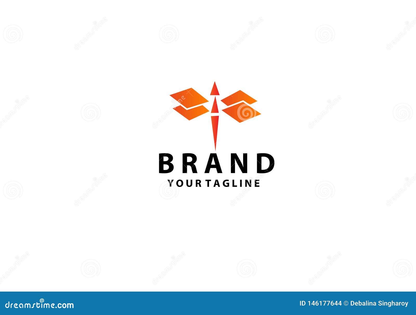 Dragonfly logo projekt r?wnie? zwr?ci? corel ilustracji wektora