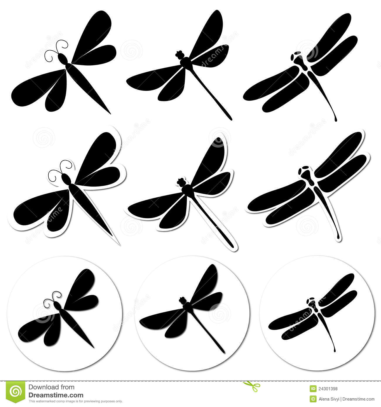 Dragonfly Stickers Stock Illustration Illustration Of Drawing 24301398