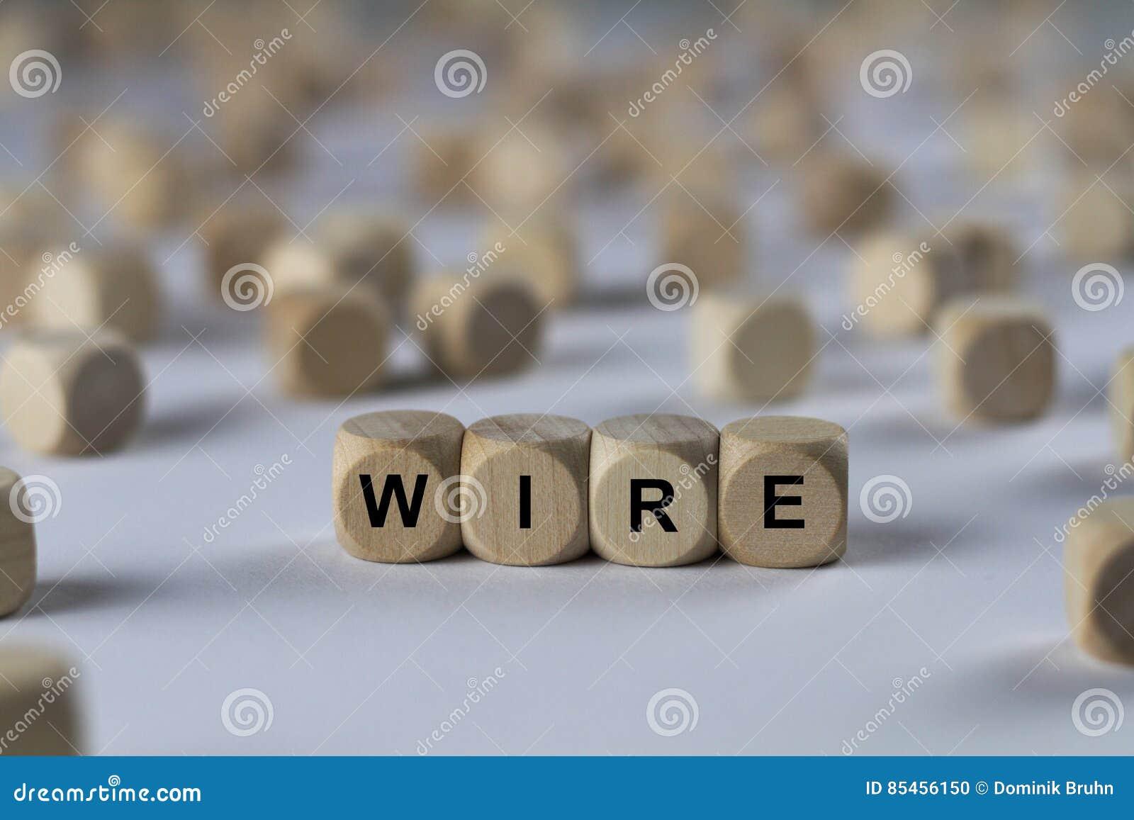 Draht - Würfel Mit Buchstaben, Zeichen Mit Hölzernen Würfeln ...