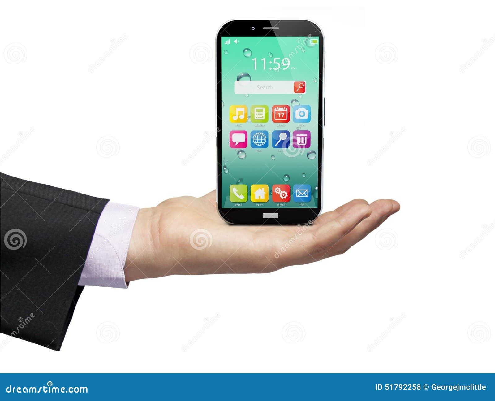 Drahtlose Kommunikationstechnologie Des Handys Und Mobilität Busi ...