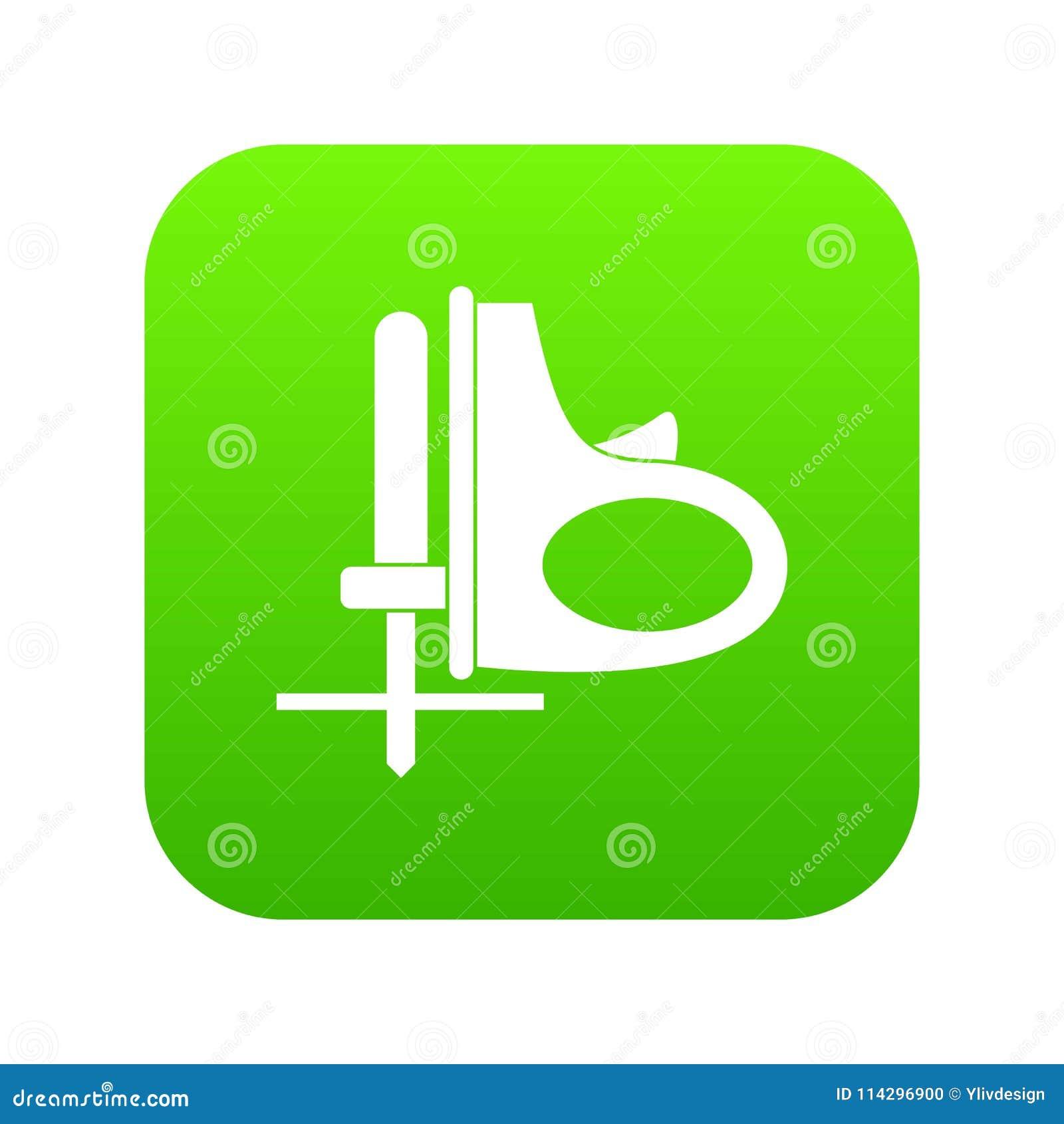 Drahtloses austauschendes digitales Grün der Sägeikone