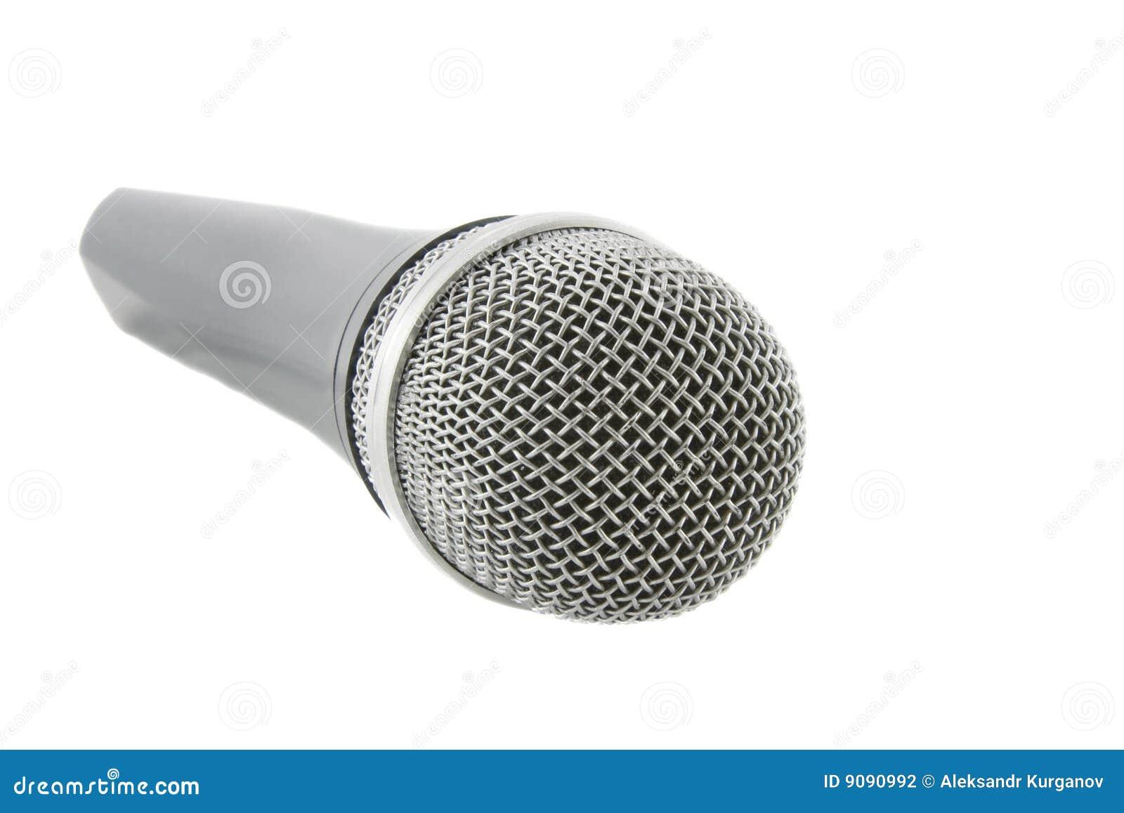 Drahtloses silbernes Mikrofon