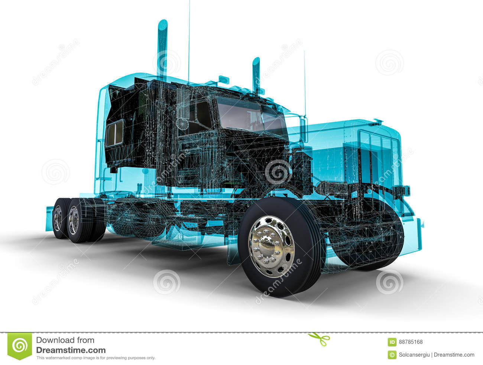 Drahtrahmen Amerikaner-LKW stock abbildung. Illustration von ...