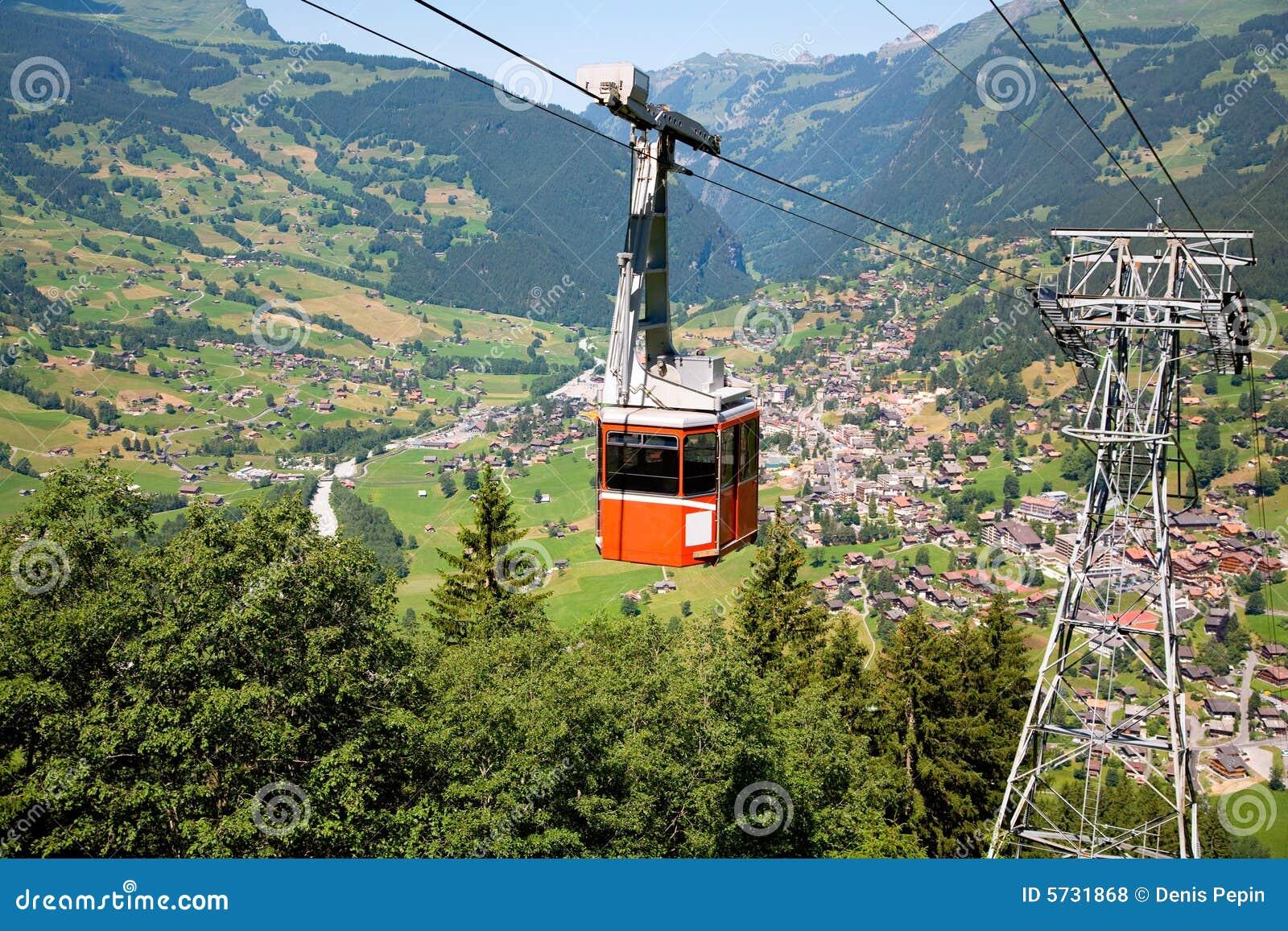 Drahtseilbahn in Grindelwald, Bern-Bezirk, die Schweiz