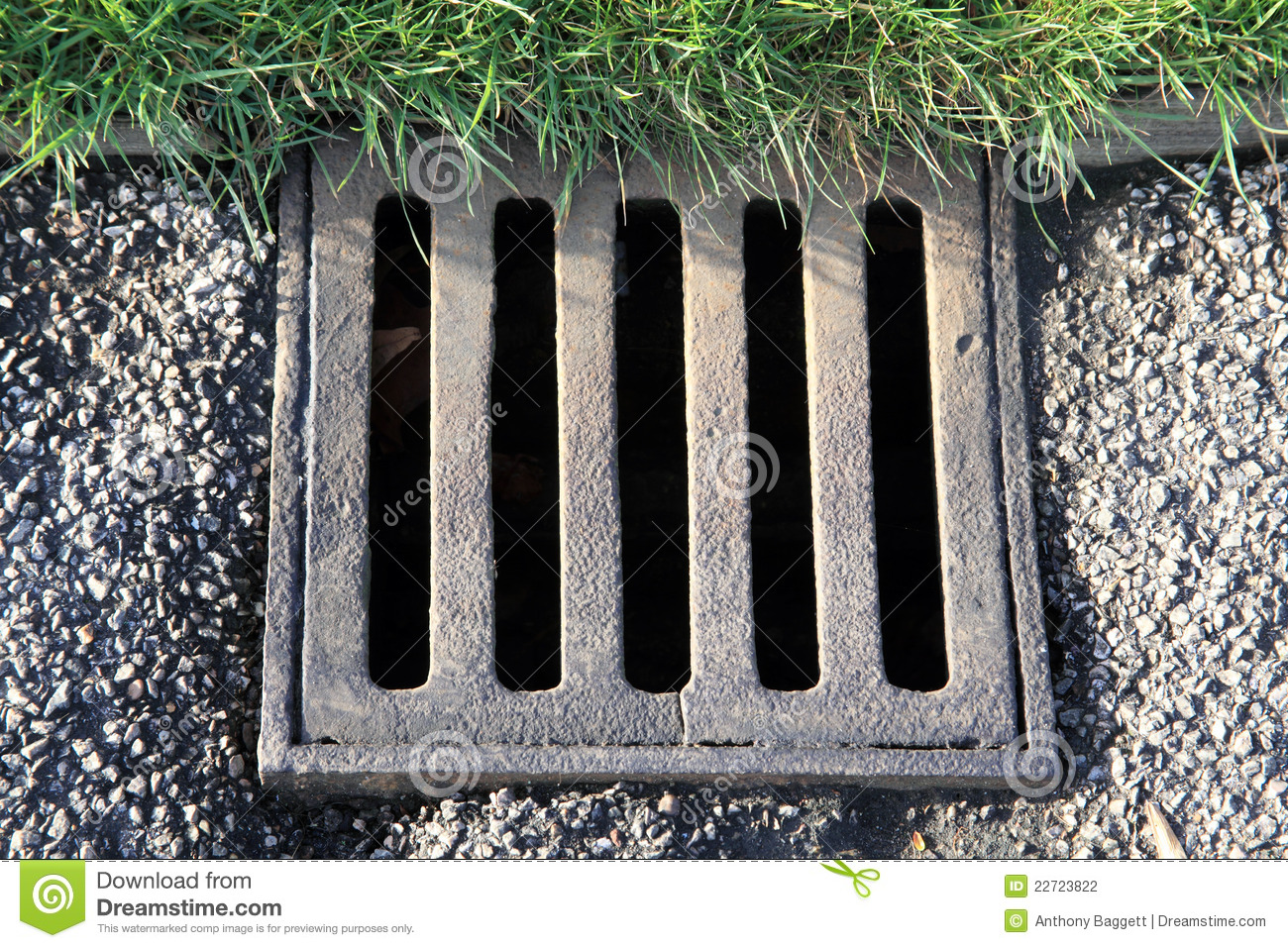 Drain Cover Stock Photo Image Of Horizontal Rain Sewage