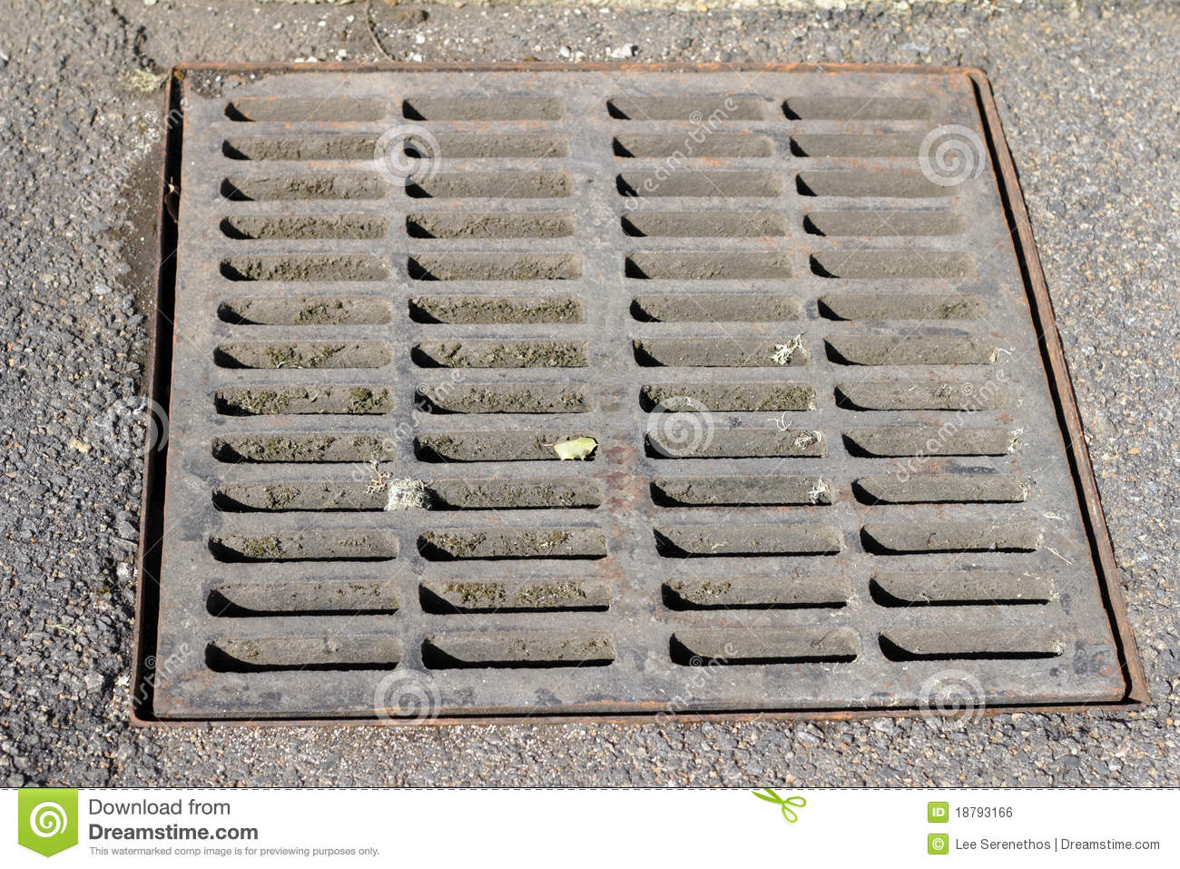 Drain Grate Stock Photo Image Of Closeup Opening Iron