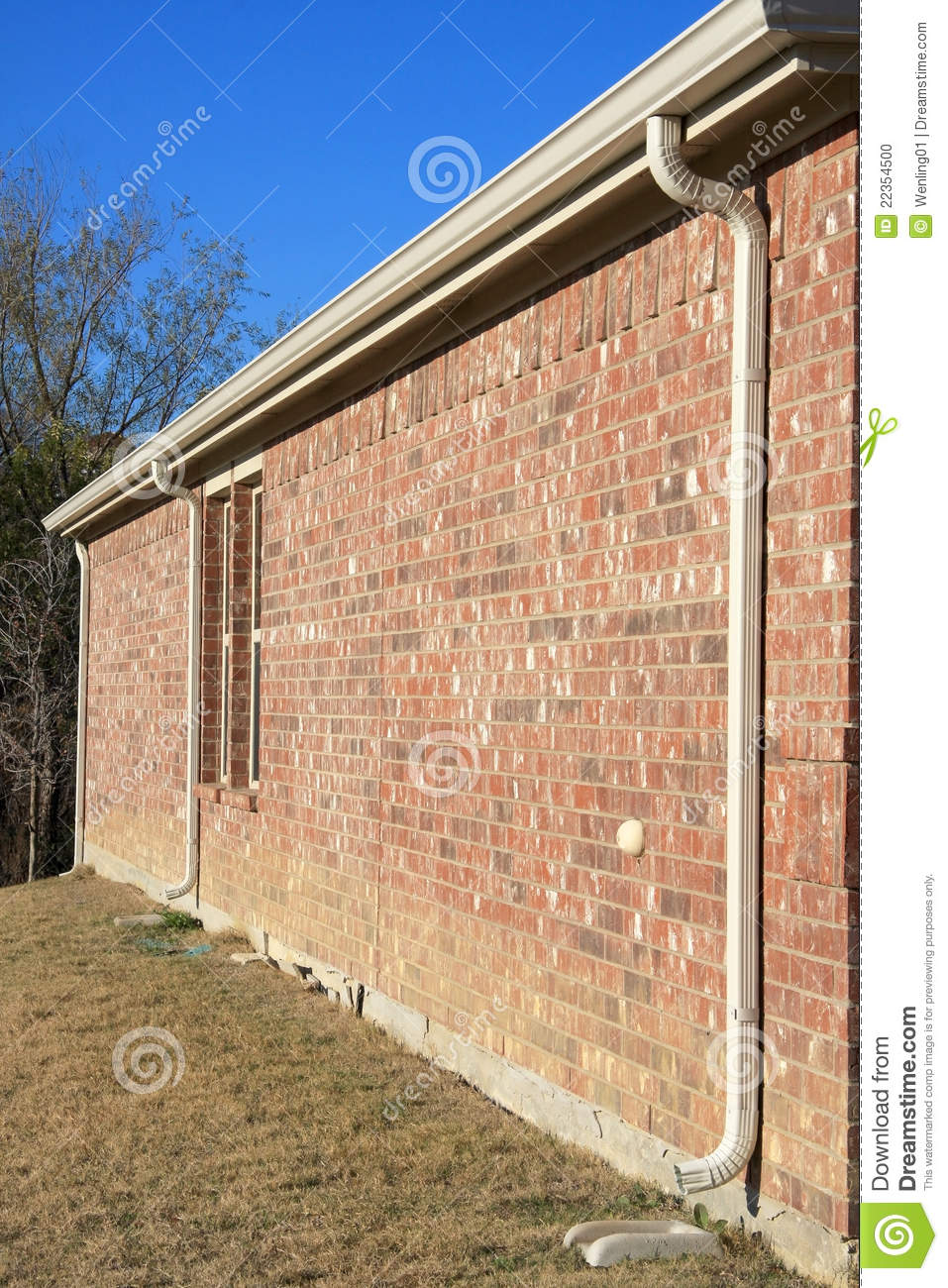 Drain pipe on the wall stock photo image 22354500 for House roof drain pipes