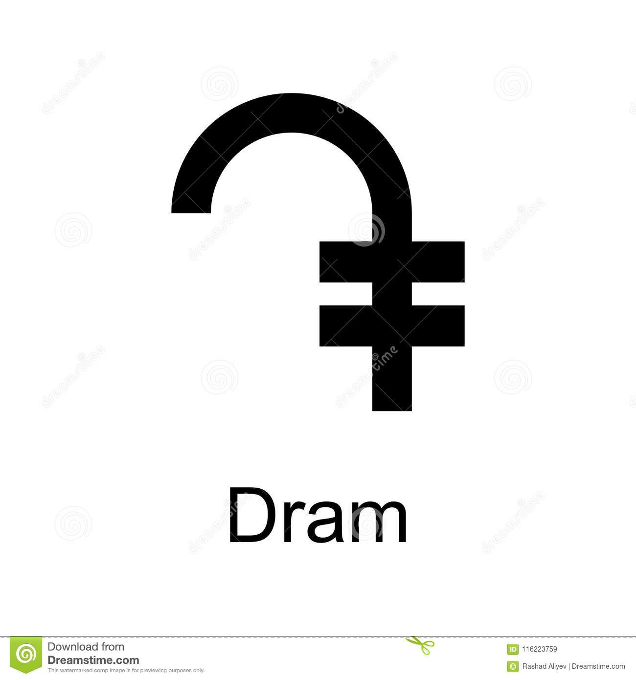 Dram Icon Element Of Currency For Mobile Concept And Web Apps