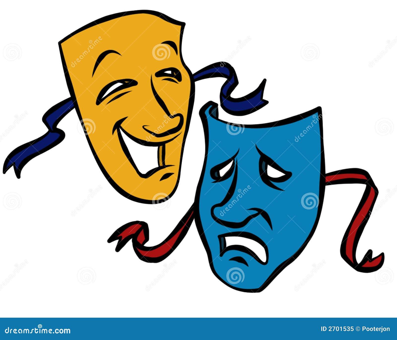 drama masks stock illustration illustration of ribbons Drama Clip Art Black and White Drama Clip Art Black and White