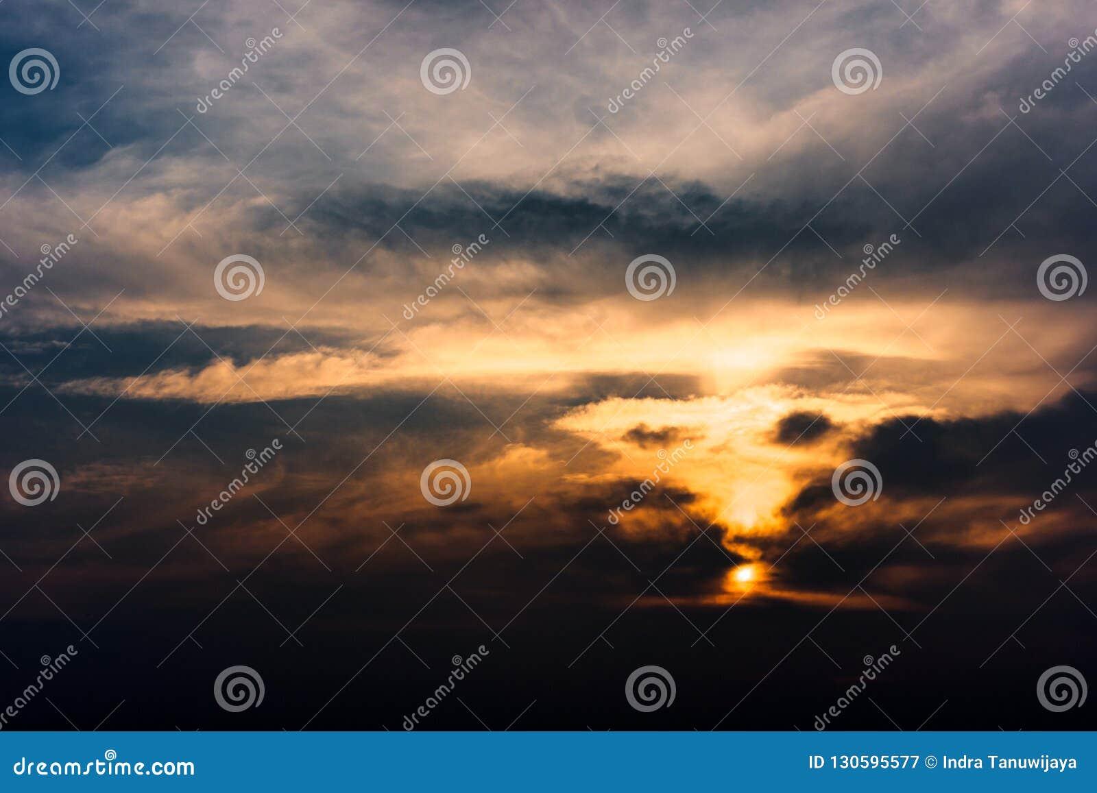 Dramatic cloud shapes like vortex