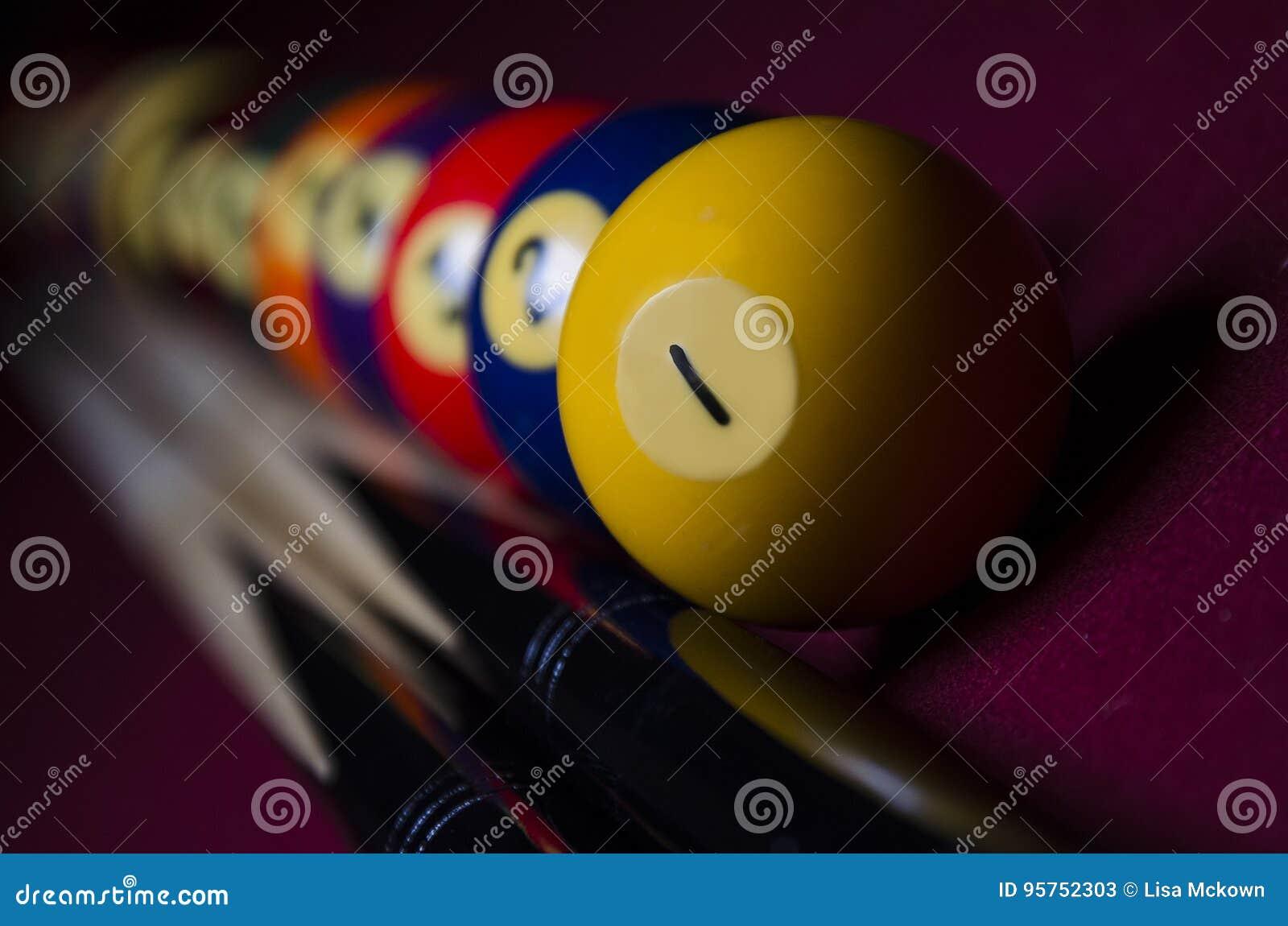 Download Dramatic Lit Pool Billiard Line Up Stock Image   Image Of Elegant,  Artistic: