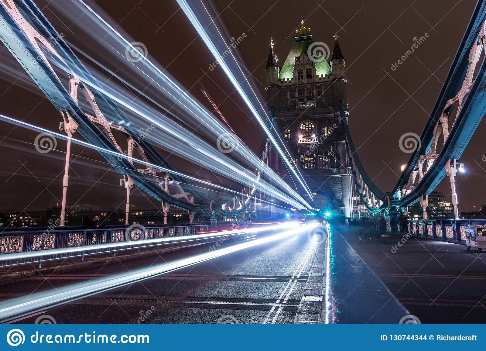 Tower Bridge London, Trails Of Light