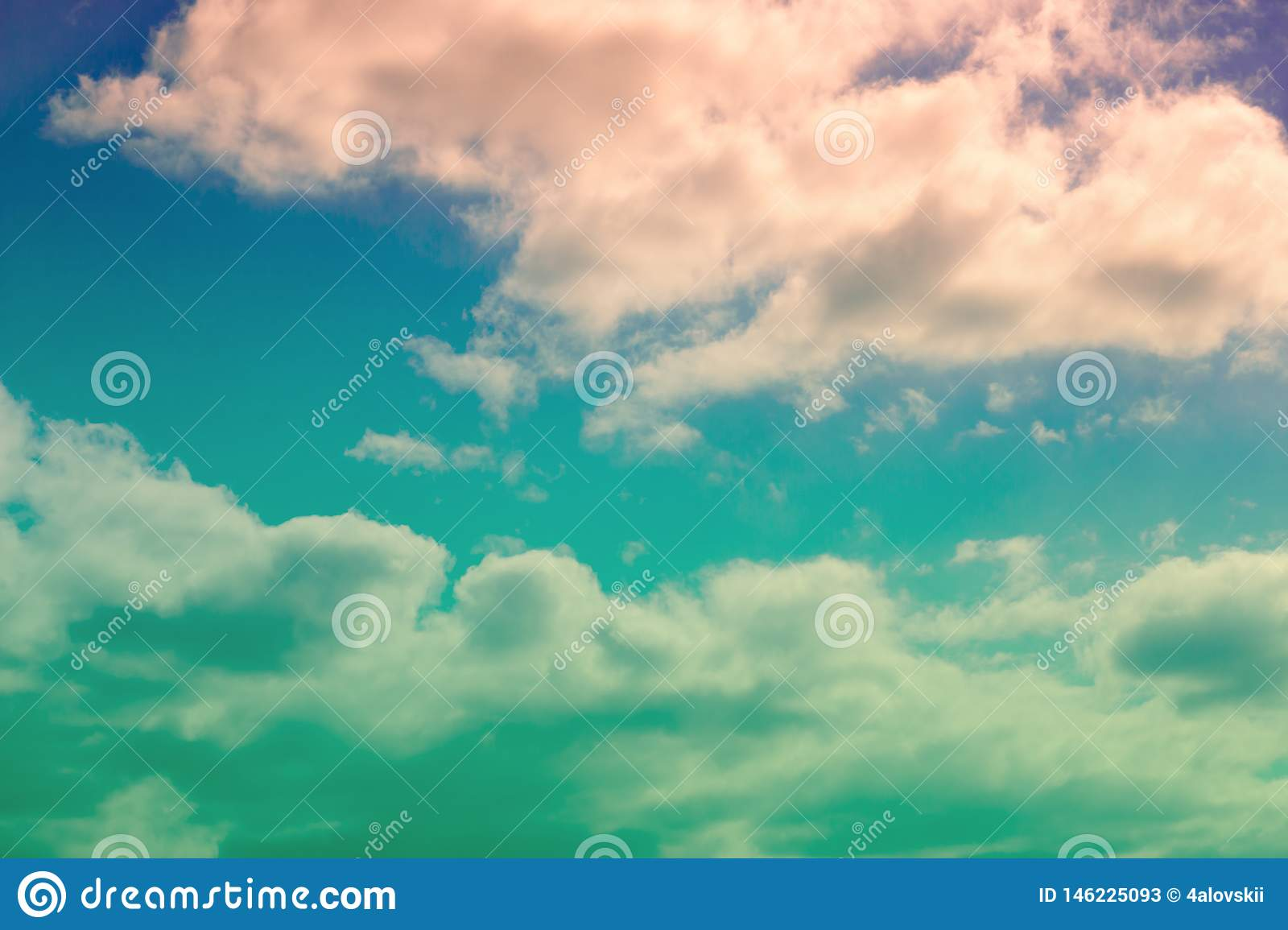 Dramatic sky and colorful clouds
