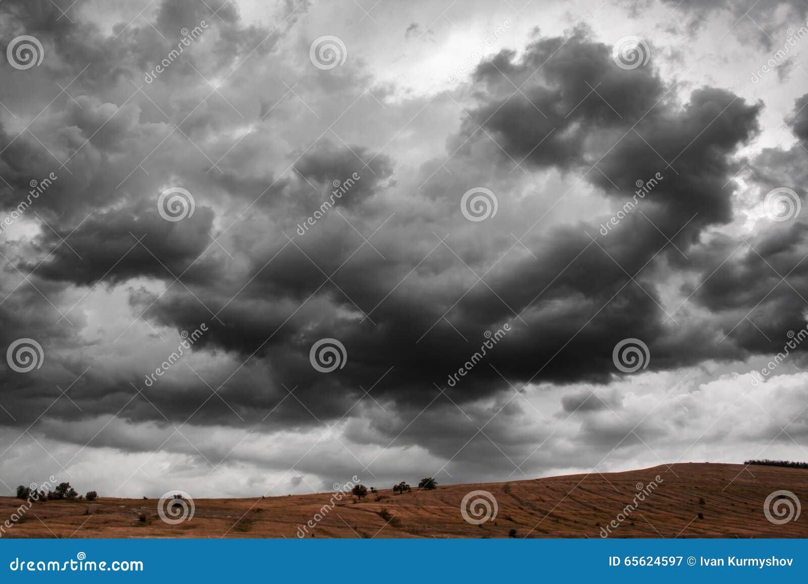Dramatic Thunder Storm Clouds Background. Nature Landscape