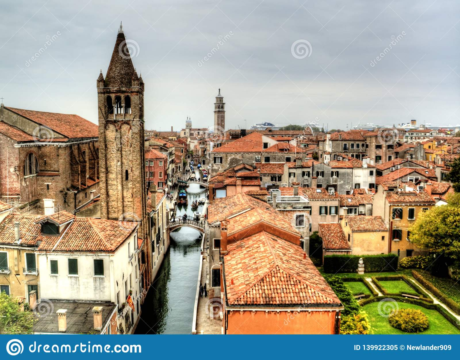 Dramatic view in Venice, Italy