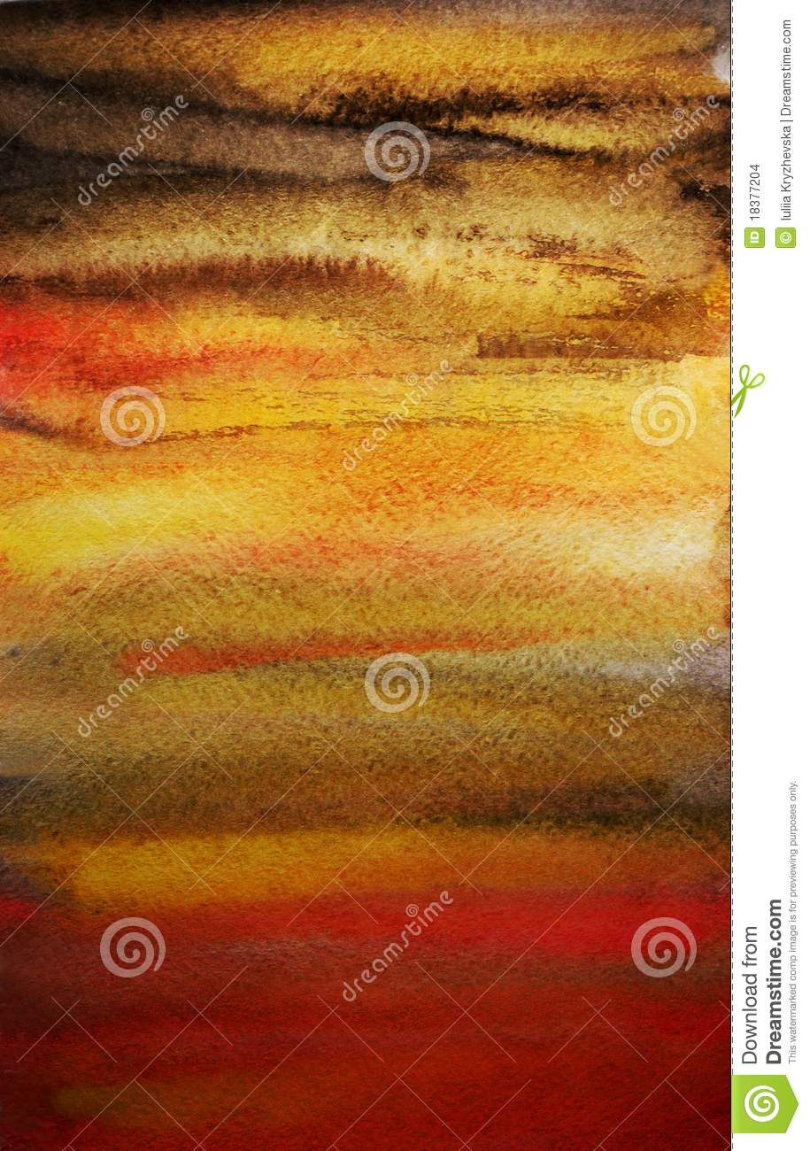 Dramatic watercolor hand painted art background